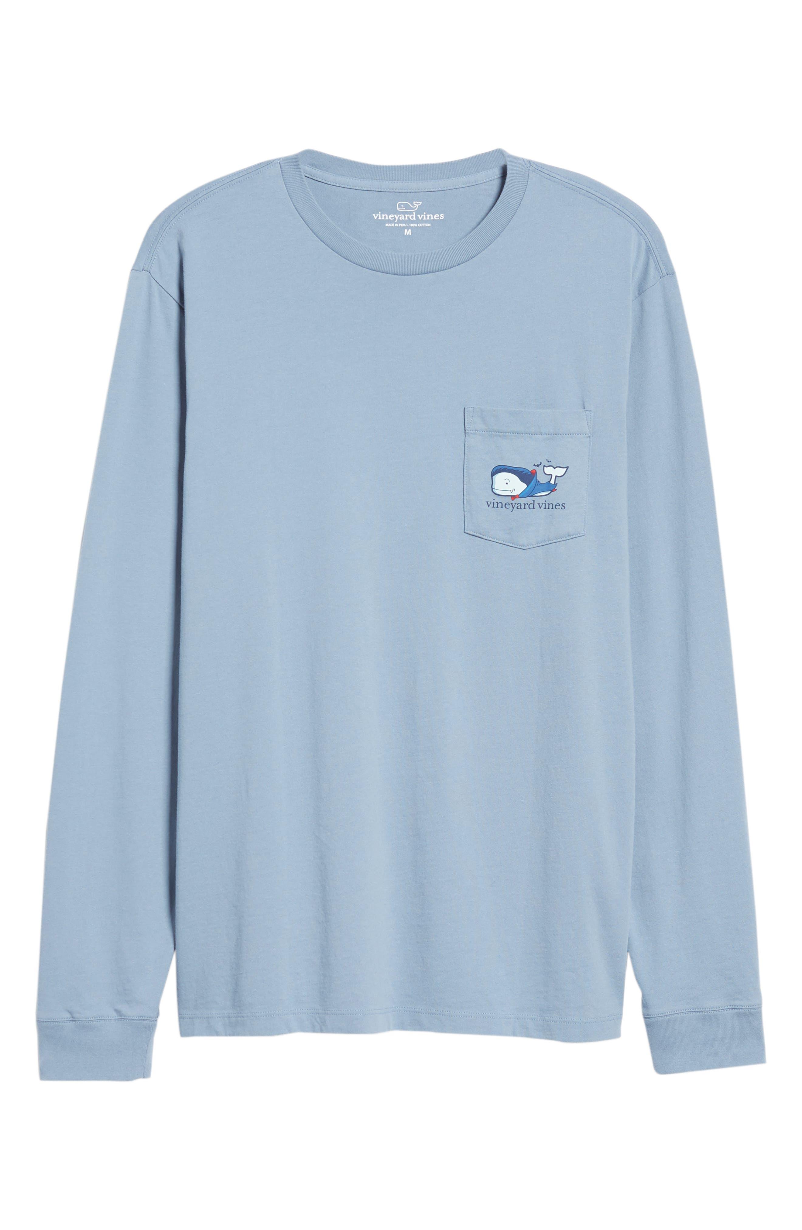 Vampire Whale Pocket T-Shirt,                             Alternate thumbnail 6, color,                             400