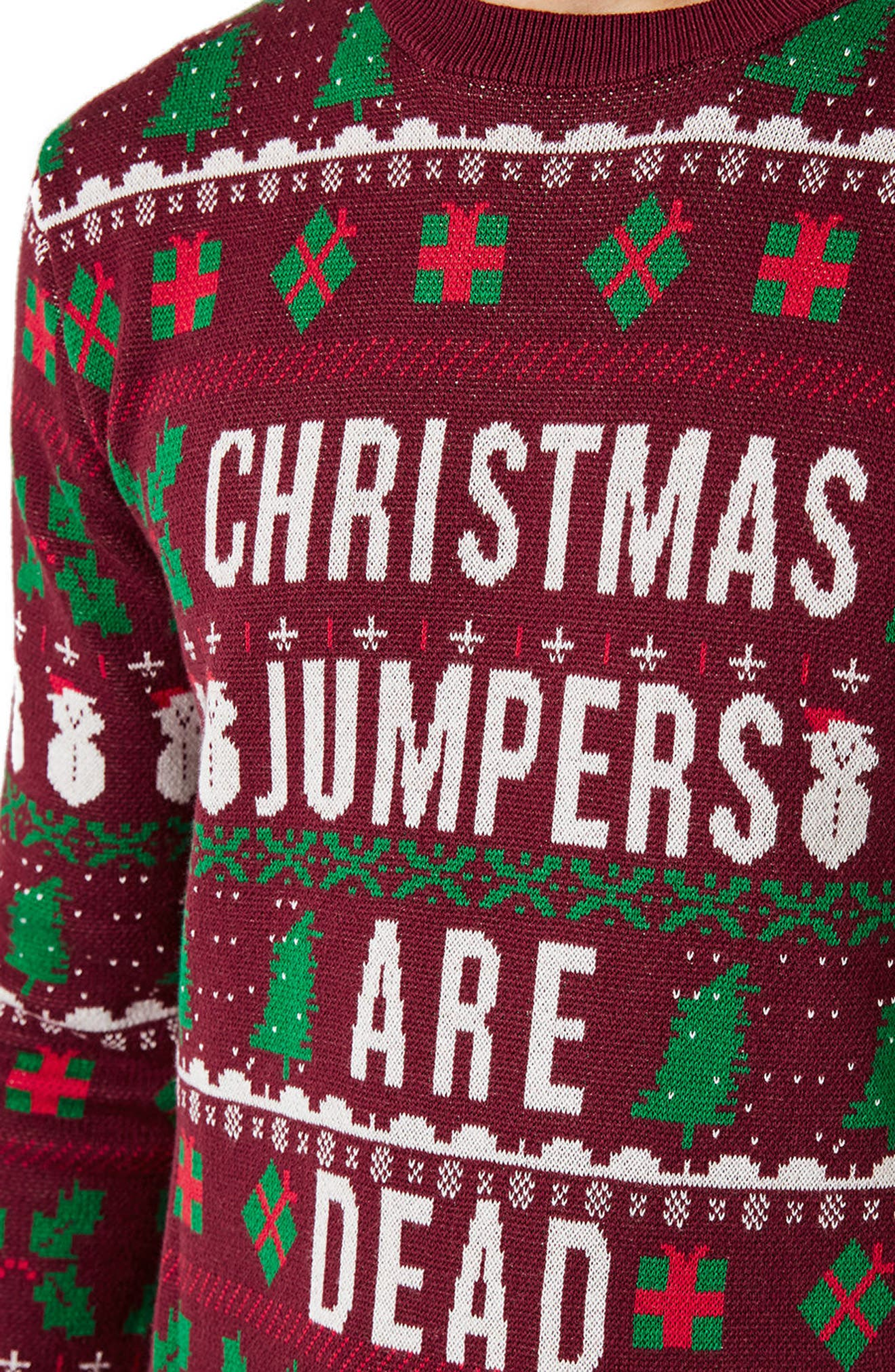 Christmas Jumpers Are Dead Sweater,                             Alternate thumbnail 3, color,                             930