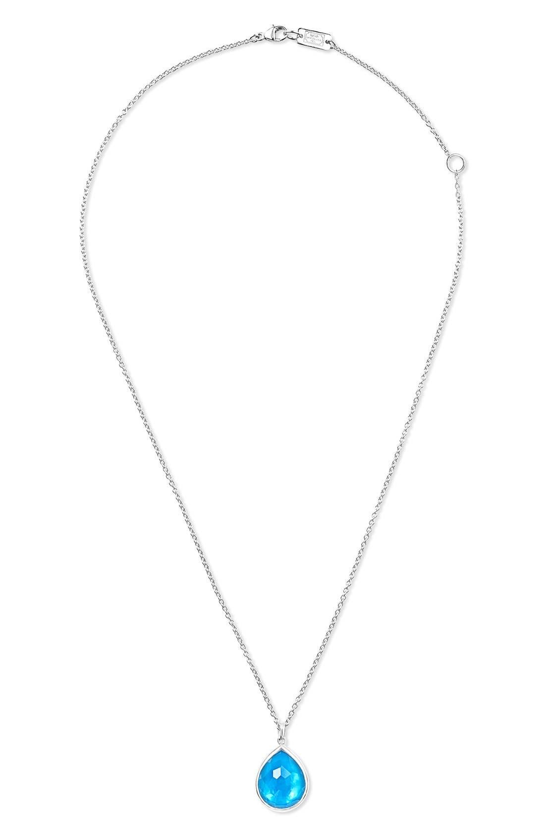 'Wonderland' Large Teardrop Pendant Necklace,                             Alternate thumbnail 3, color,                             100