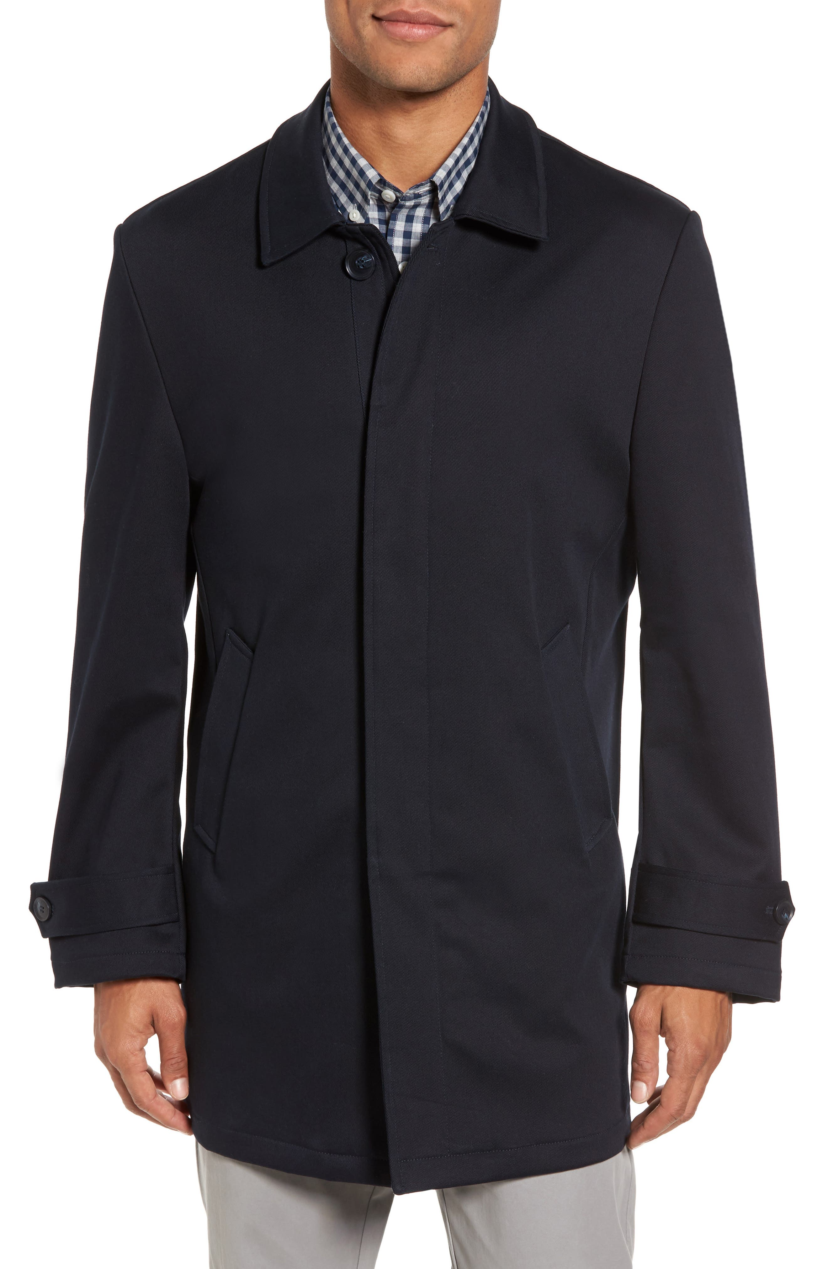 Grayson Stretch Cotton Blend Car Coat,                             Alternate thumbnail 4, color,