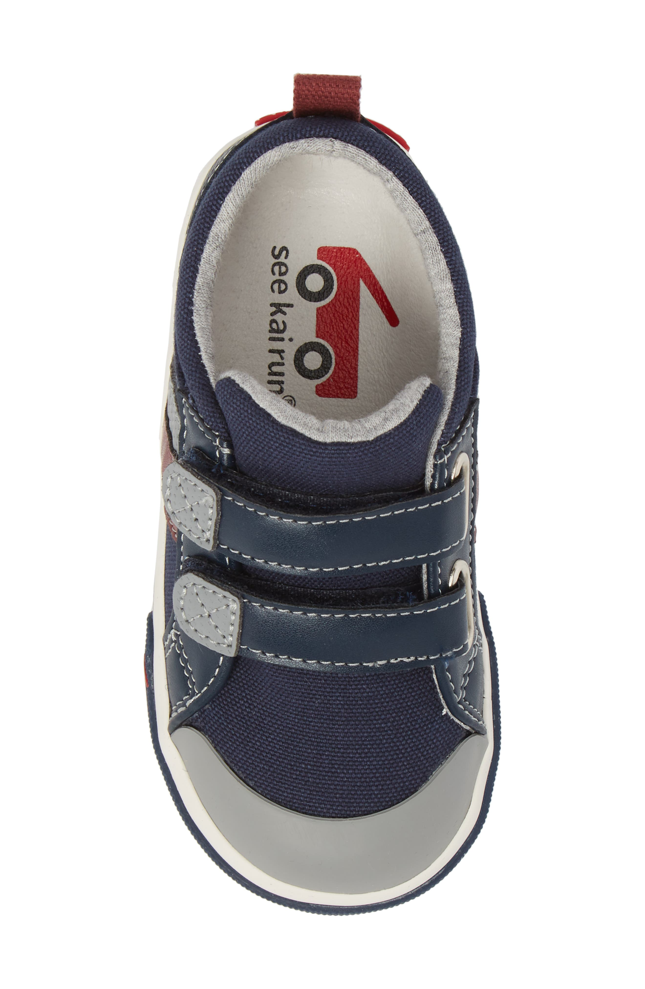 'Russell' Sneaker,                             Alternate thumbnail 5, color,                             NAVY/ RED