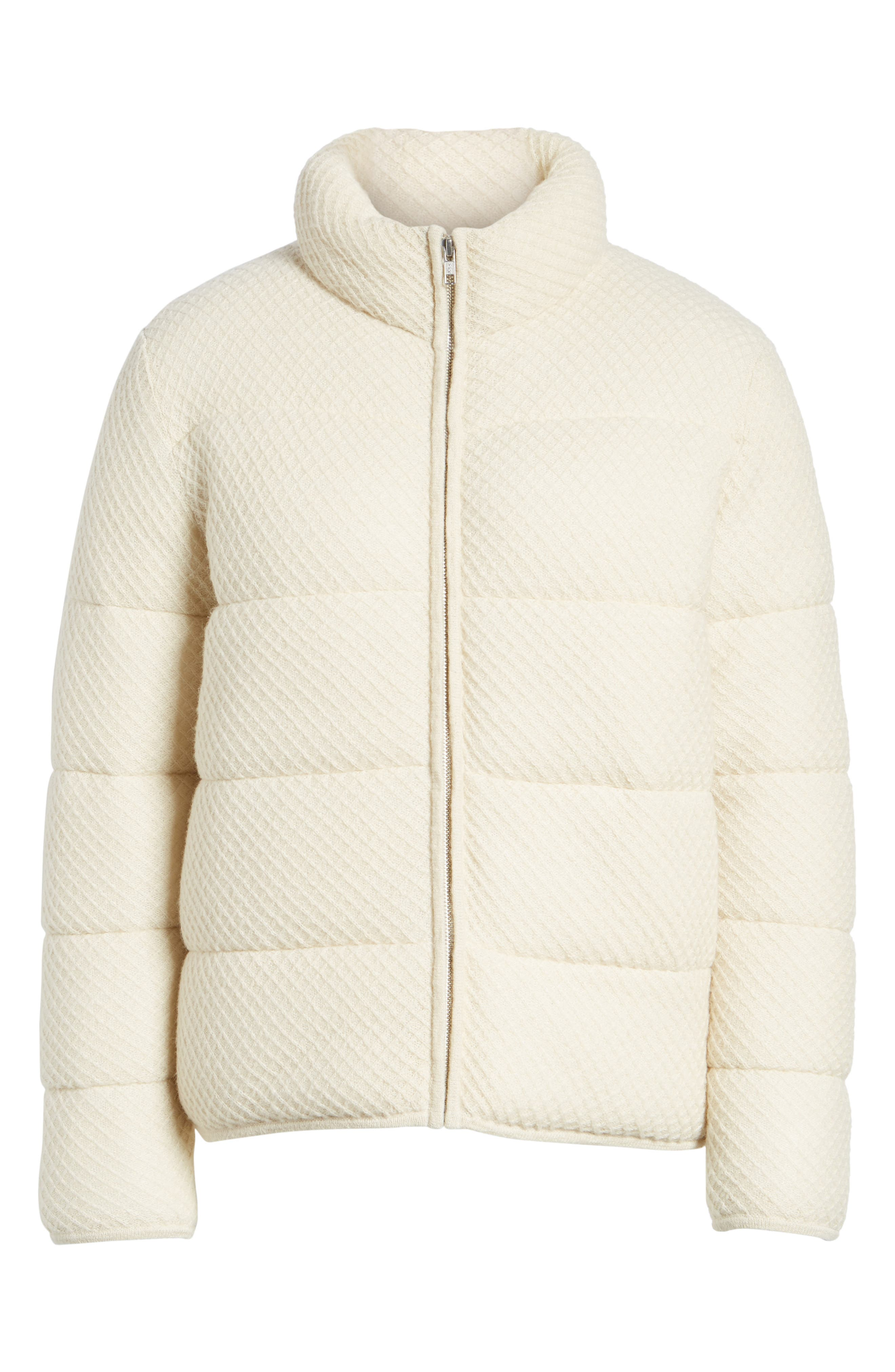 Knit Puffer Jacket,                             Alternate thumbnail 5, color,                             900