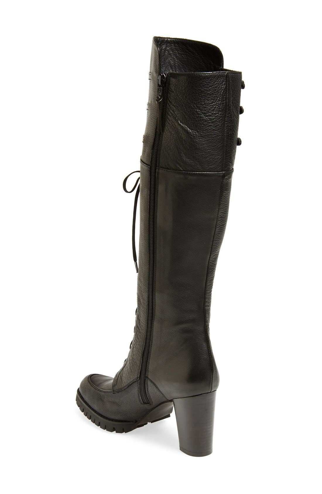 STUART WEITZMAN,                             'Soldier' Lace-Up Military Boot,                             Alternate thumbnail 2, color,                             001