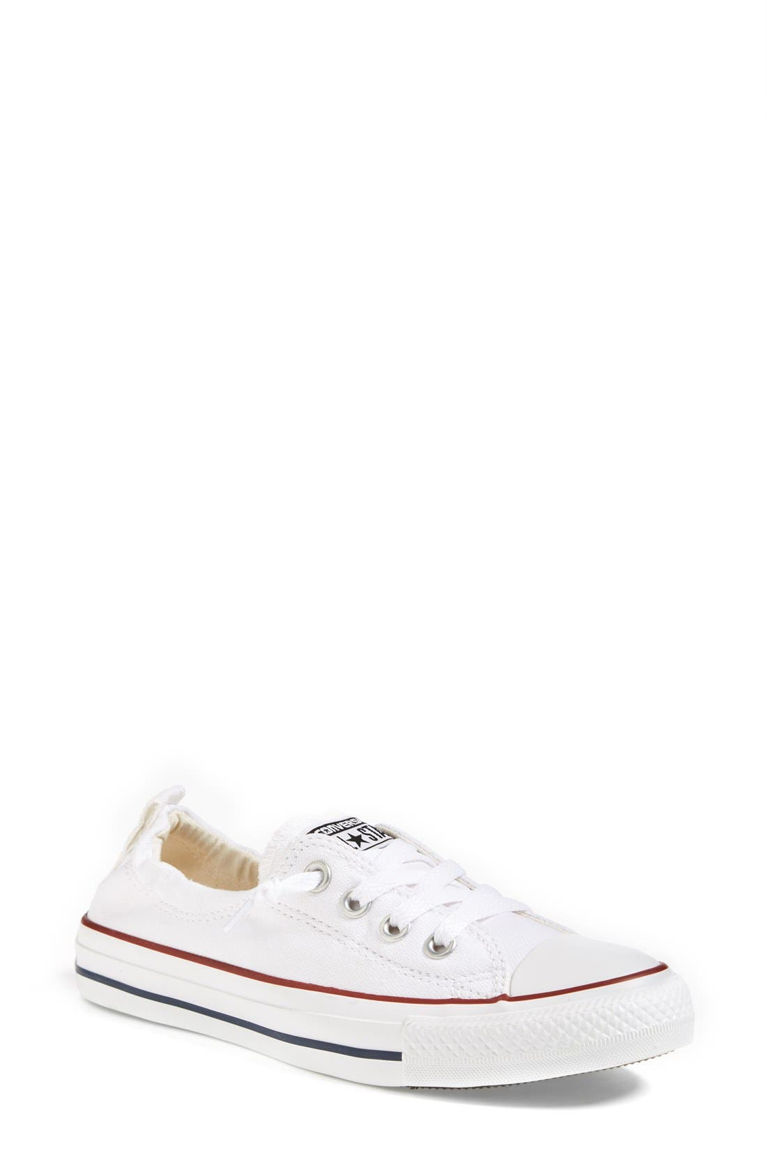CONVERSE,                             Chuck Taylor<sup>®</sup> 'Shoreline' Sneaker,                             Main thumbnail 1, color,                             WHITE