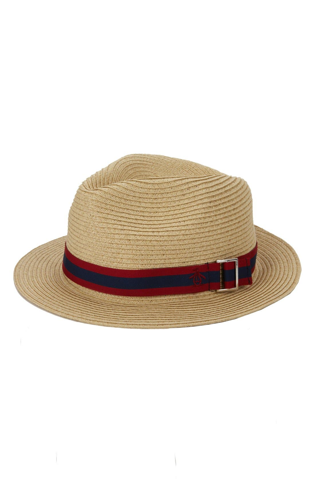 'Cuda' Straw Fedora,                             Main thumbnail 1, color,                             105