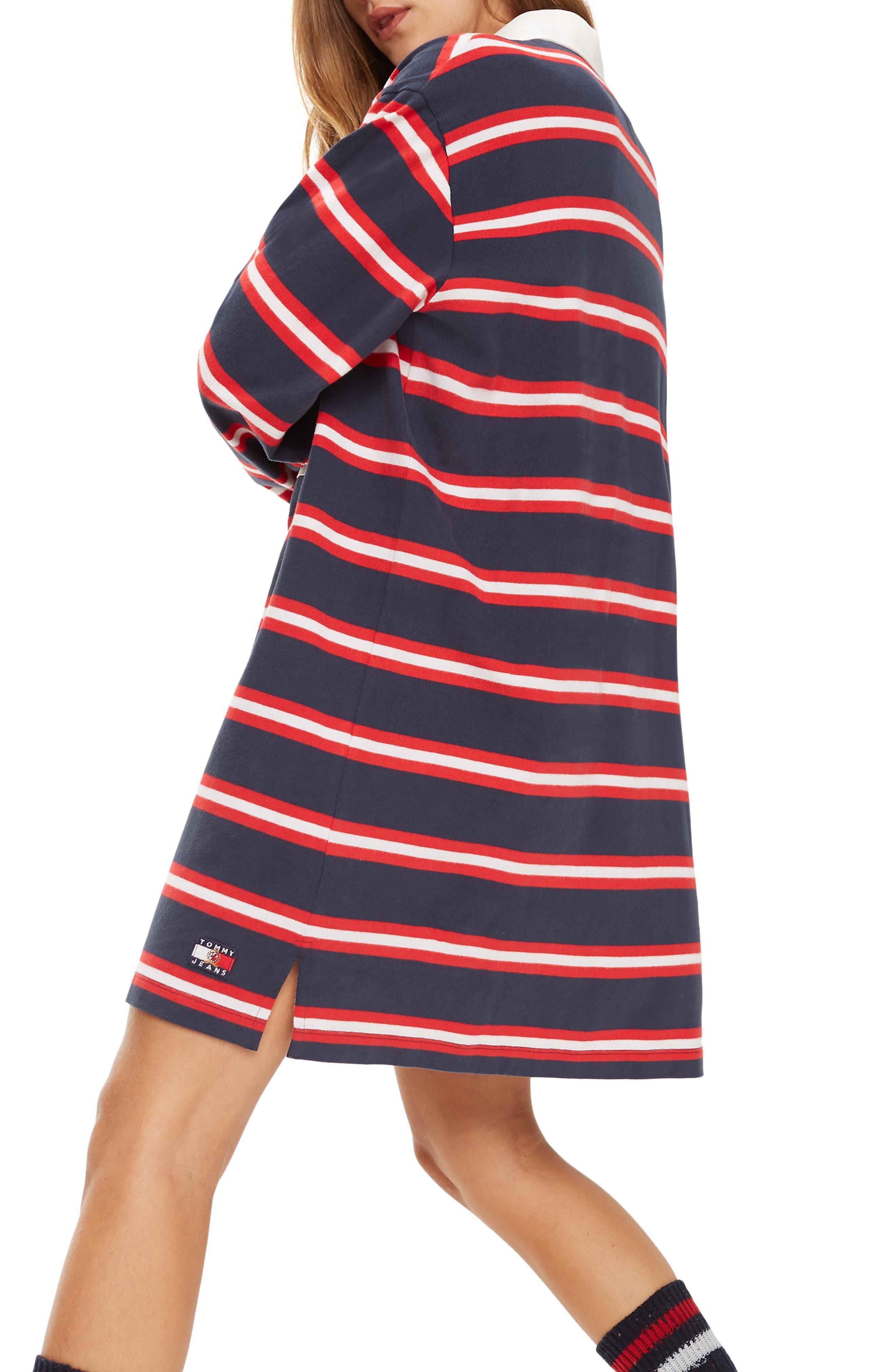 Crest Capsule Stripe Rugby Dress,                             Alternate thumbnail 2, color,                             DARK SAPPHIRE / MULTI