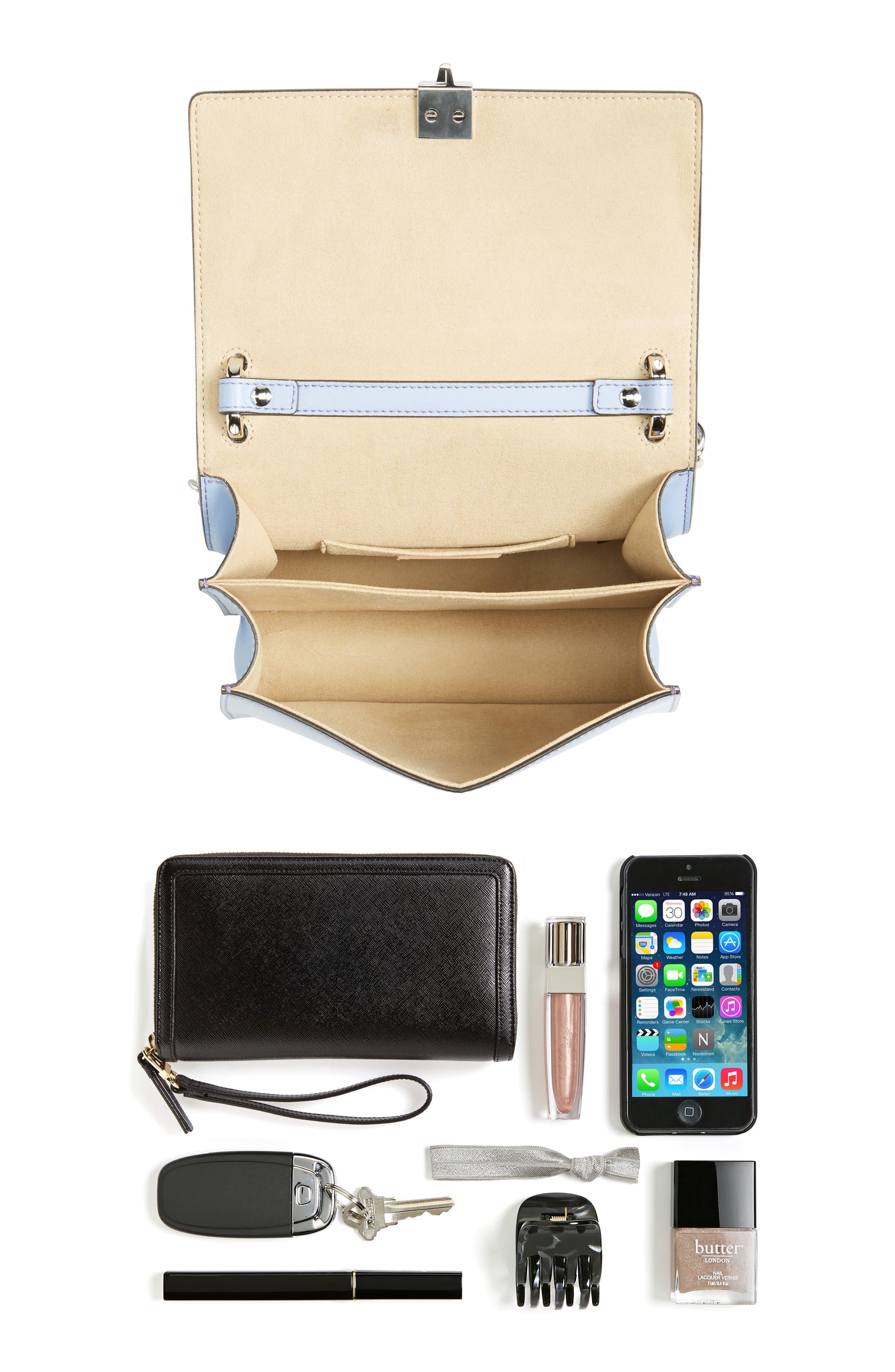 Mini Kan I Leather Shoulder Bag,                             Alternate thumbnail 7, color,                             SKY