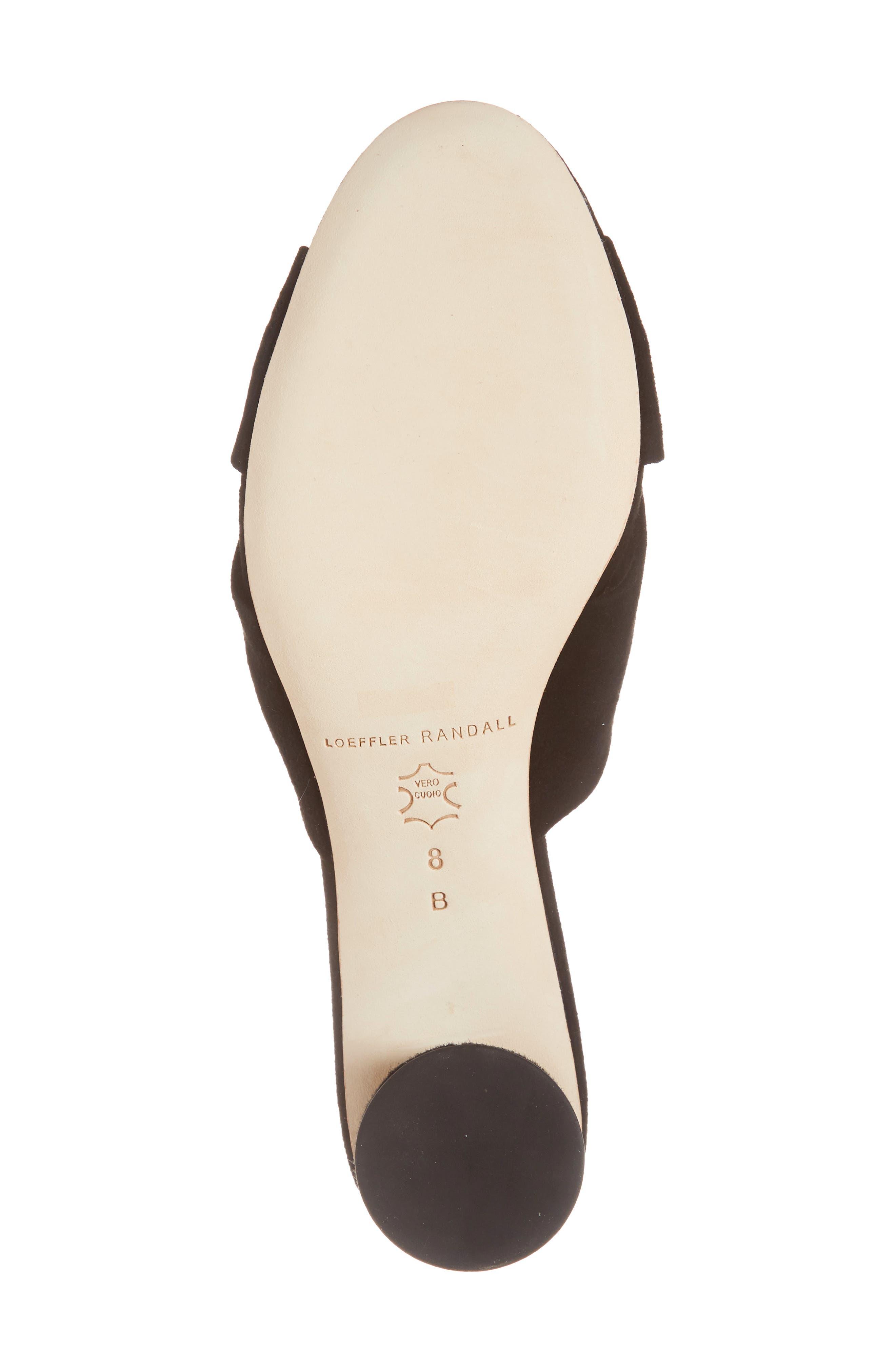 Loeffler Randal Celeste Knotted Slide Sandal,                             Alternate thumbnail 6, color,                             BLACK