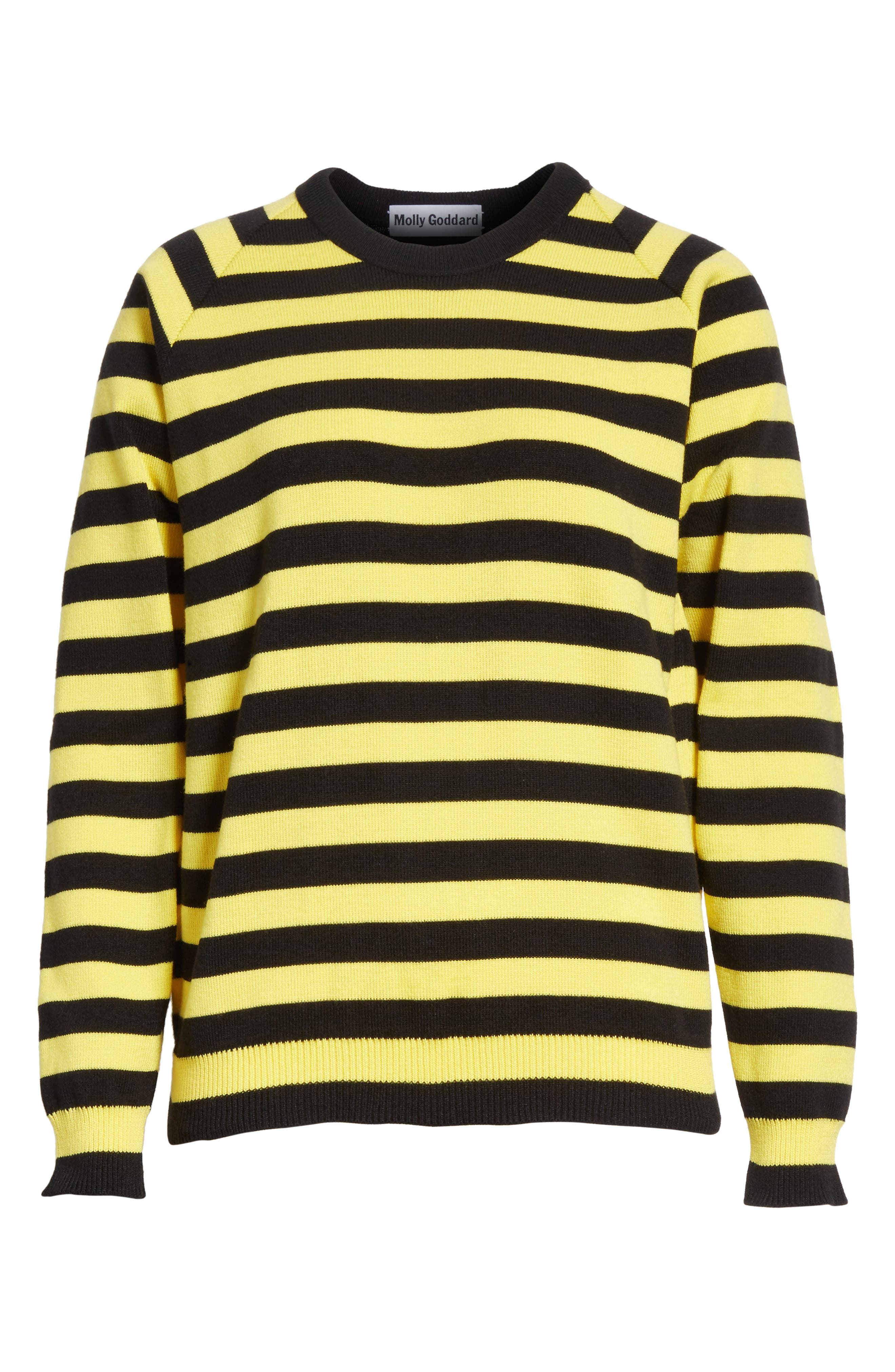 Bumblebee Stripe Sweater,                             Alternate thumbnail 6, color,                             750