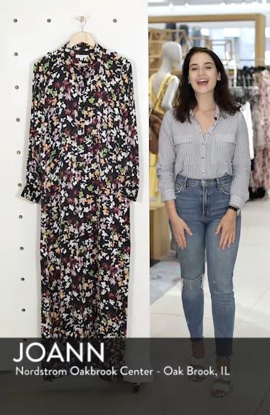 Simone Floral Silk Button Sleeve Maxi Dress, sales video thumbnail