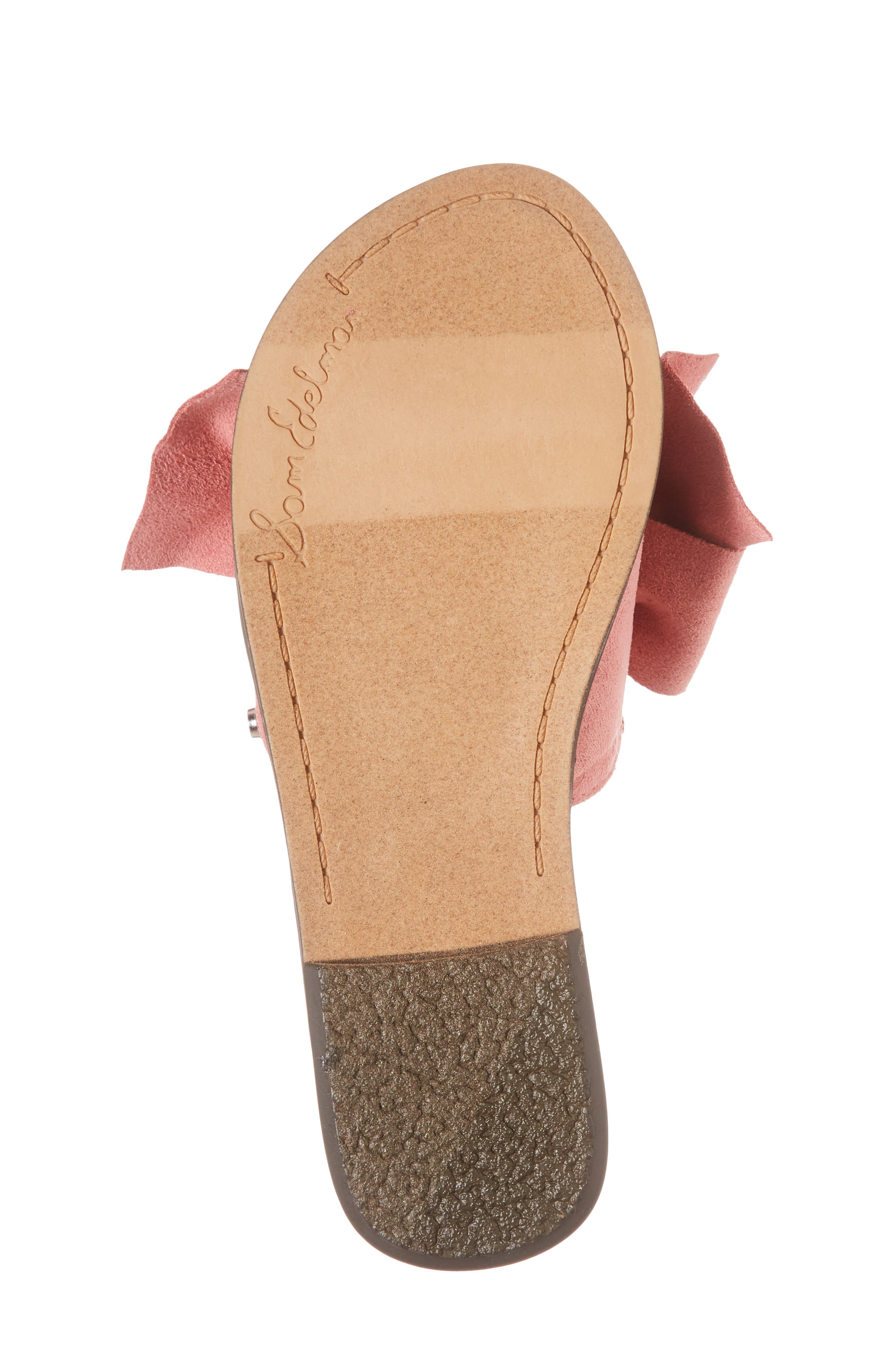 Gigi Bow Faux Leather Sandal,                             Alternate thumbnail 17, color,