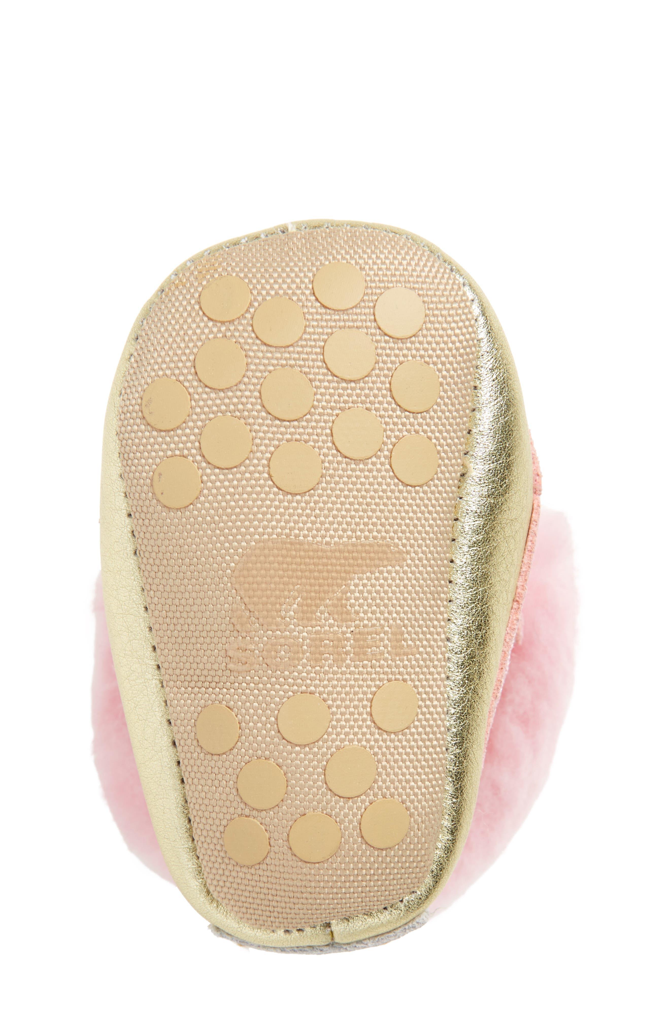 Caribootie Genuine Shearling Crib Shoe,                             Alternate thumbnail 36, color,