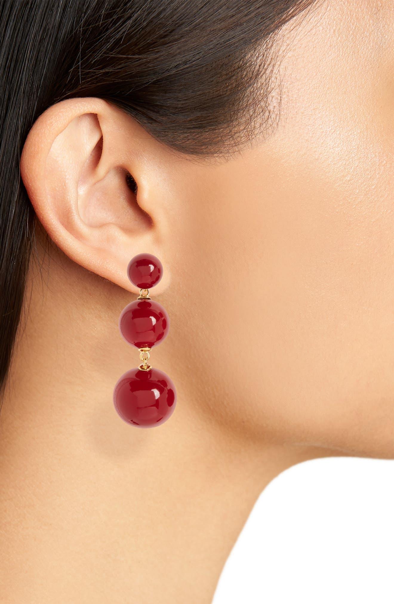 golden girl bauble drop earrings,                             Alternate thumbnail 10, color,