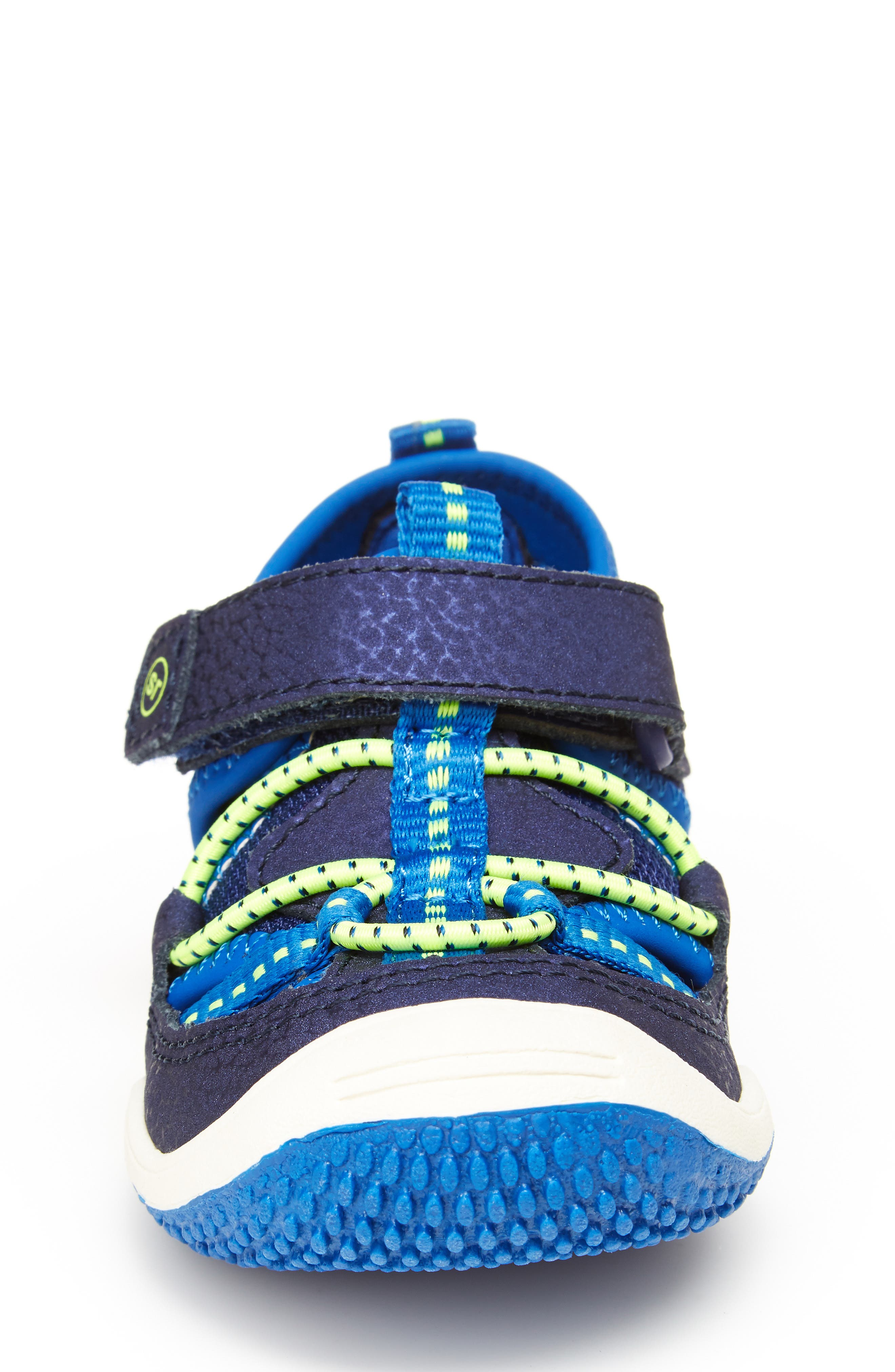 STRIDE RITE,                             Marina Water Sandal,                             Alternate thumbnail 3, color,                             ELECTRIC BLUE LEATHER/ TEXTILE