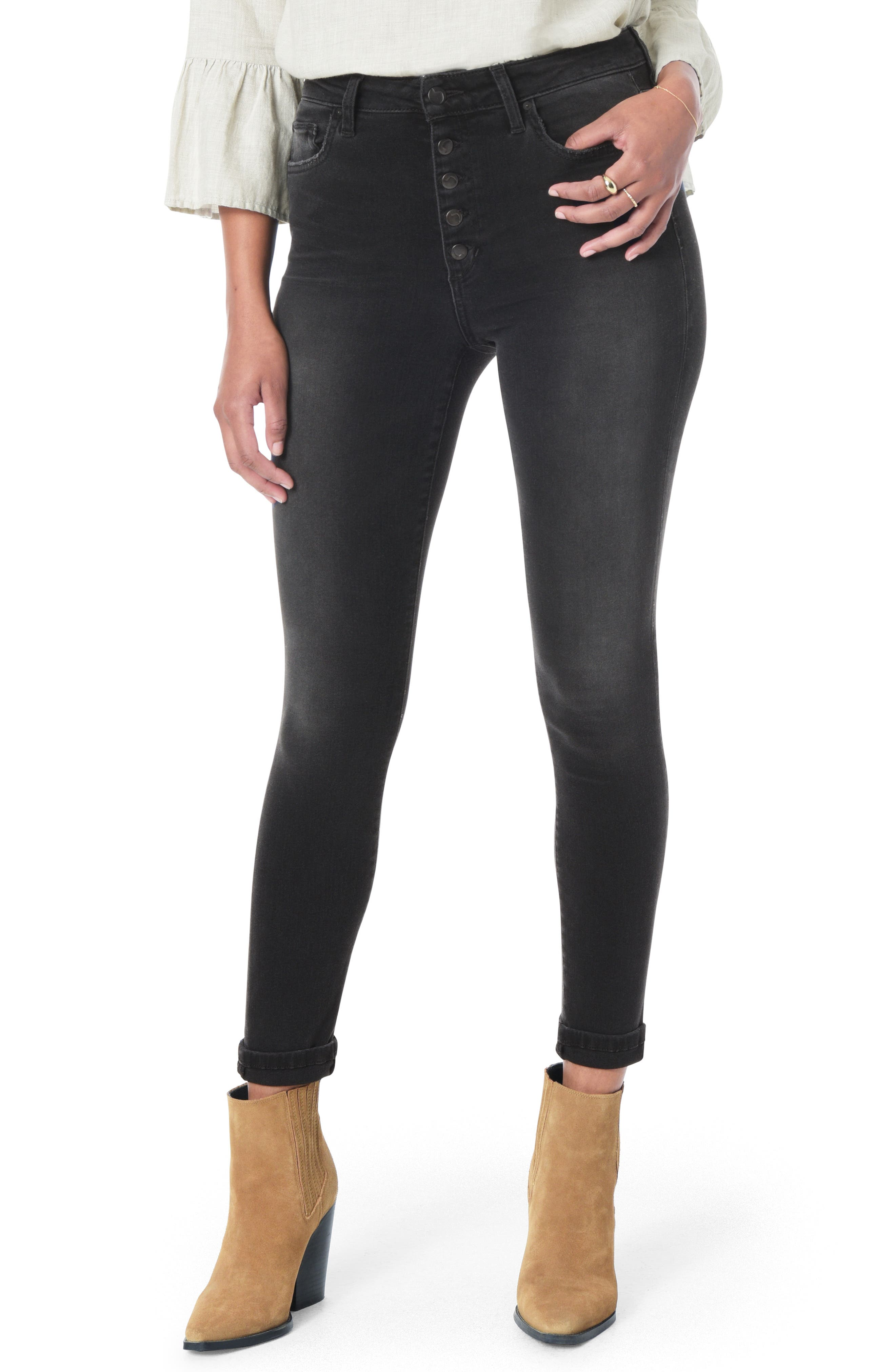 JOE'S,                             Flawless - Honey Curvy High Waist Ankle Skinny Jeans,                             Main thumbnail 1, color,                             GABBIE