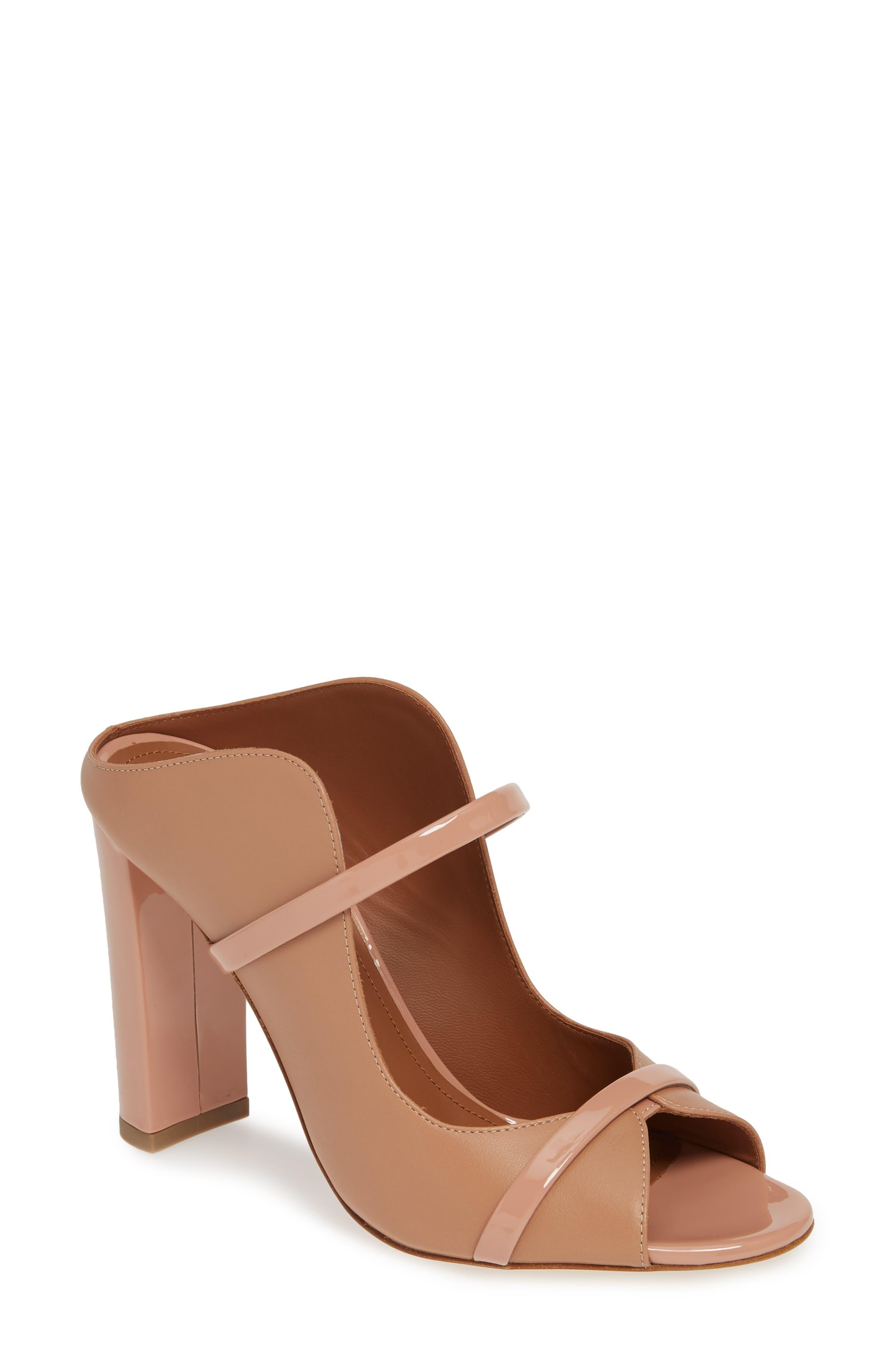 MALONE SOULIERS Norah Block Heel Sandal, Main, color, NUDE/ BLUSH