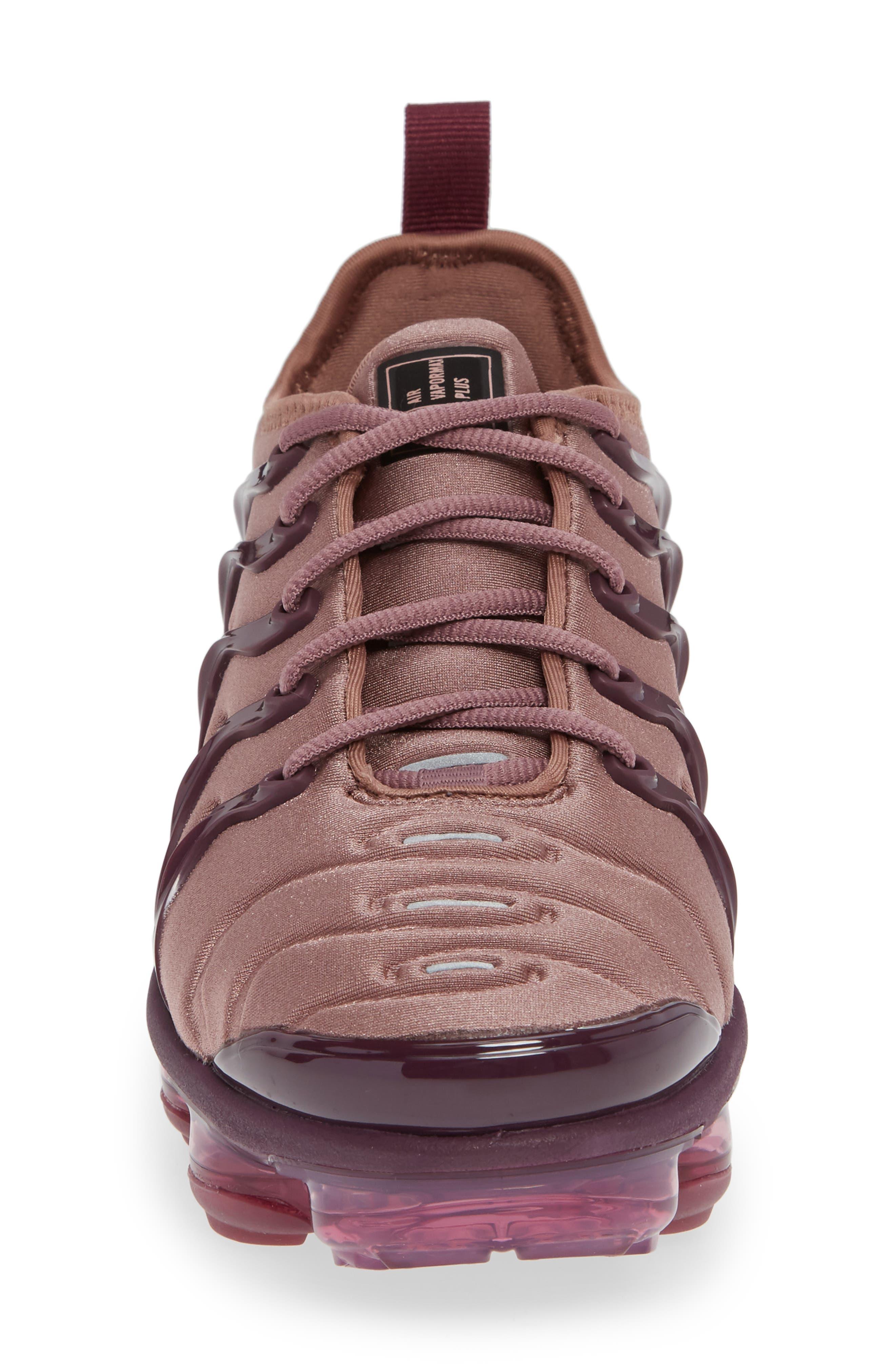 Air VaporMax Plus Sneaker,                             Alternate thumbnail 4, color,                             MAUVE/ BORDEAUX/ WINE/ BLACK