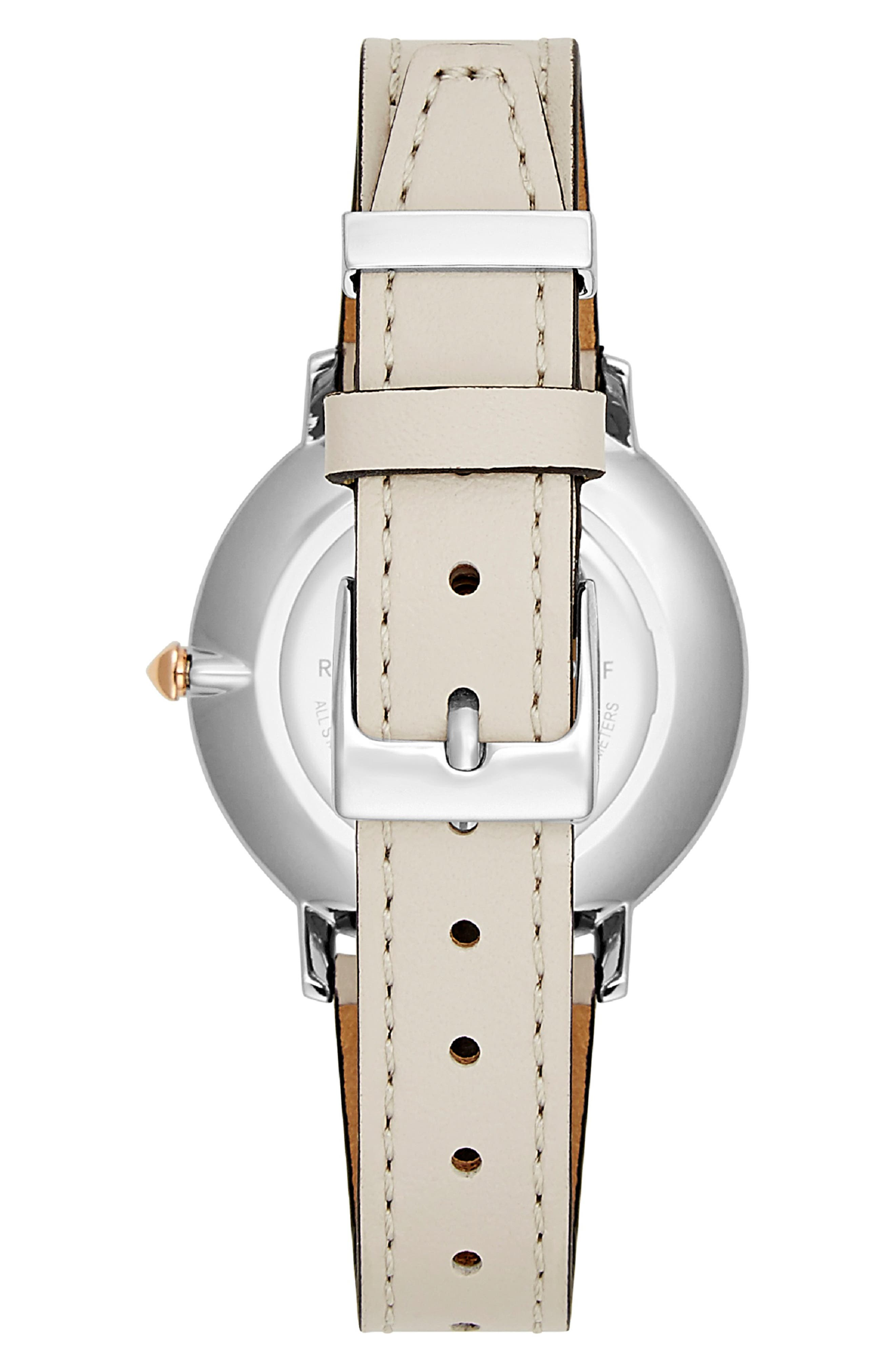 Major Leather Strap Watch, 35mm,                             Alternate thumbnail 2, color,                             GREY/ SILVER