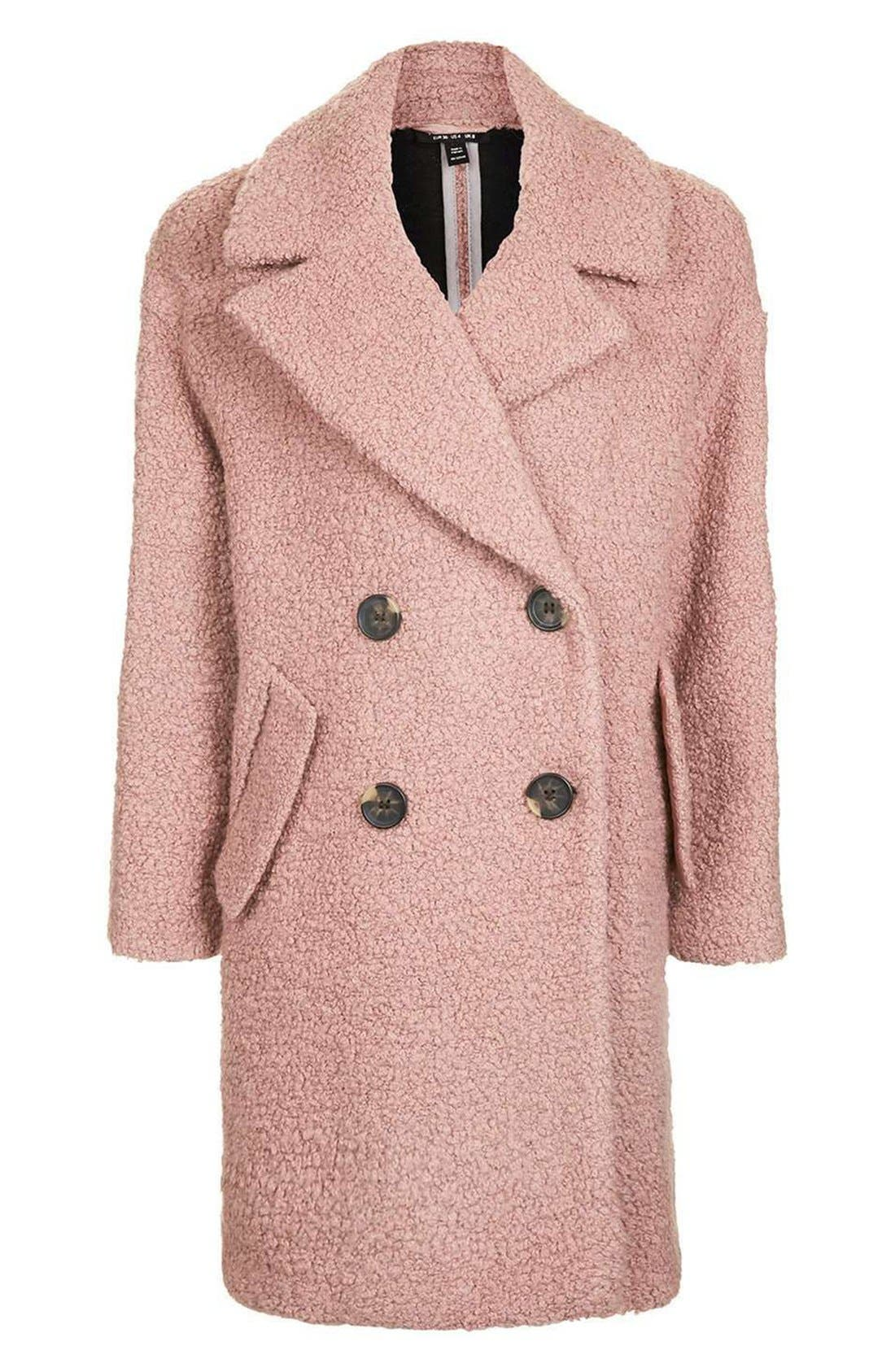 Alicia Bouclé Coat,                             Alternate thumbnail 7, color,                             650