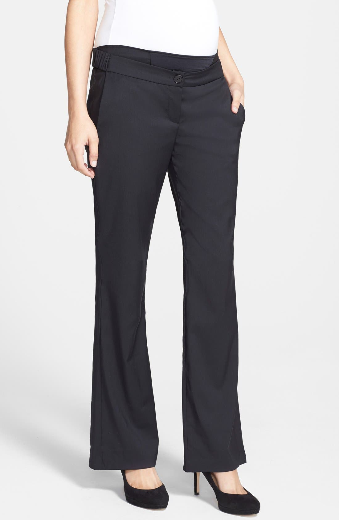 London 'Morgan' Tailored Maternity Pants,                         Main,                         color, 001