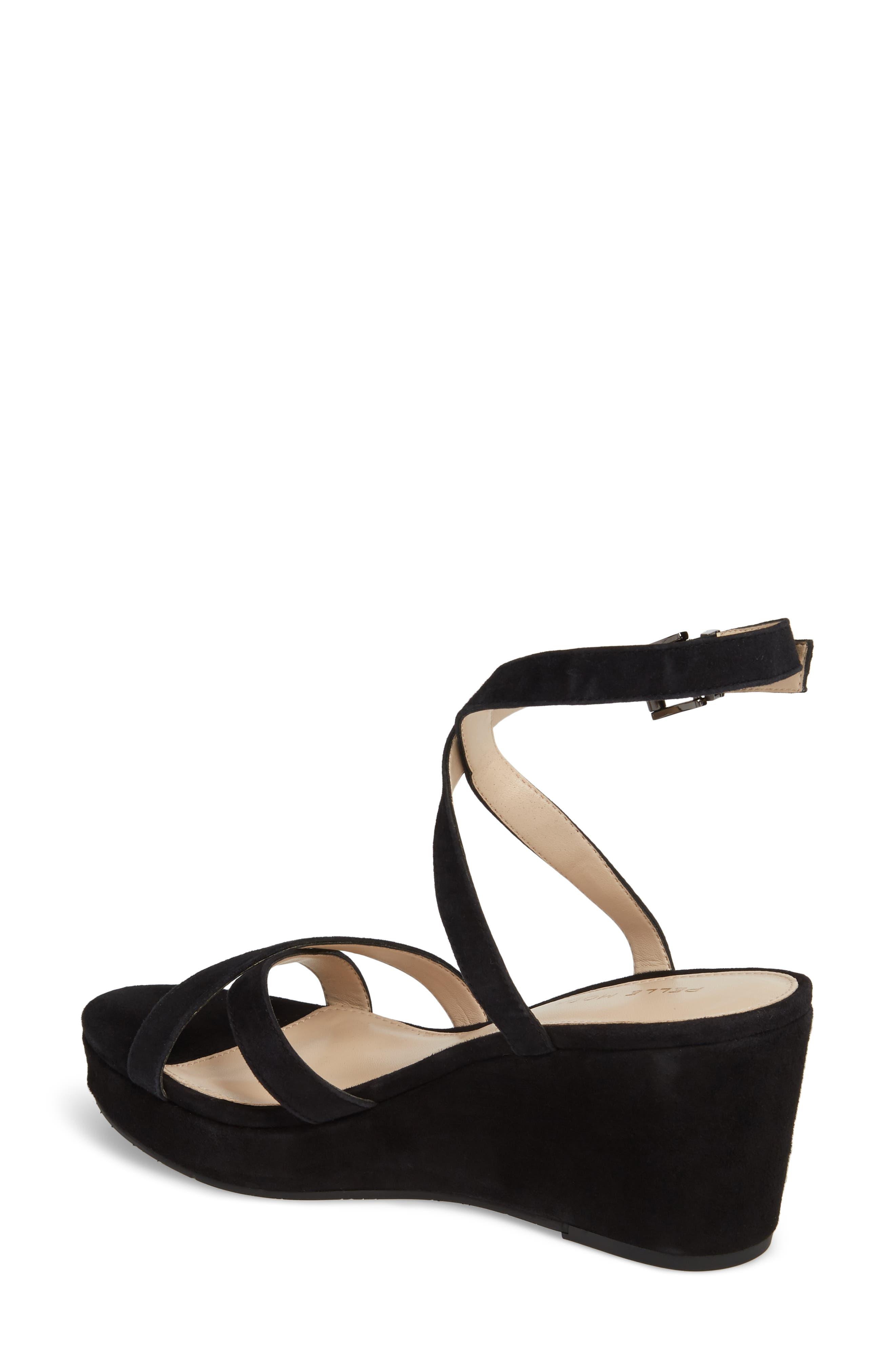 Keo2 Platform Wedge Sandal,                             Alternate thumbnail 2, color,                             BLACK SUEDE