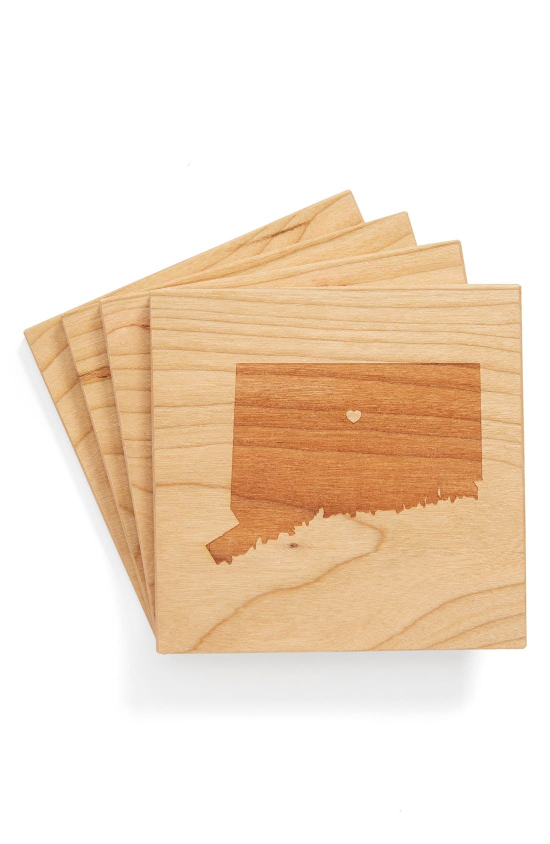 'State Silhouette' Coasters,                             Main thumbnail 36, color,