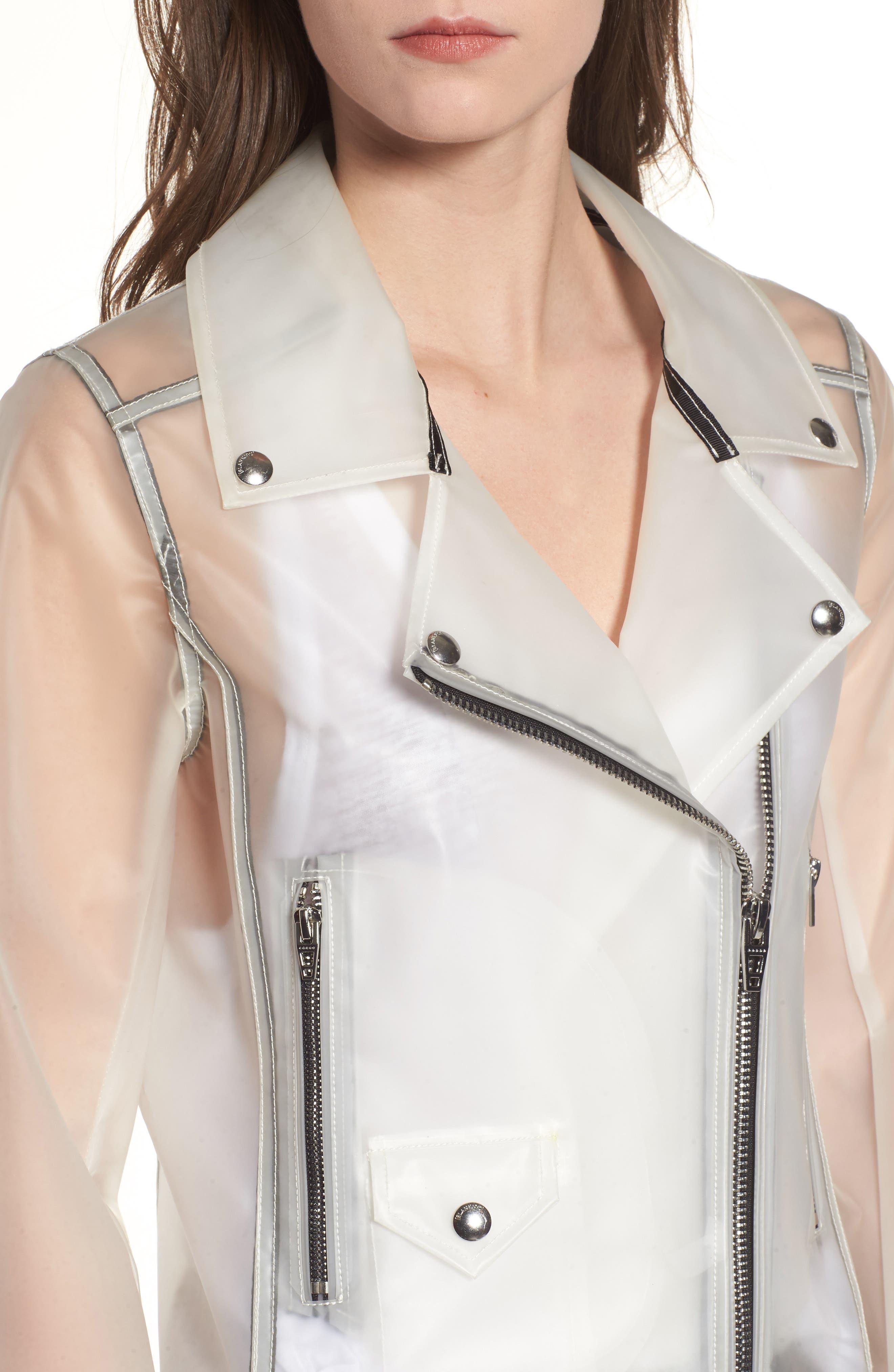 Plastic Moto Jacket,                             Alternate thumbnail 4, color,                             100