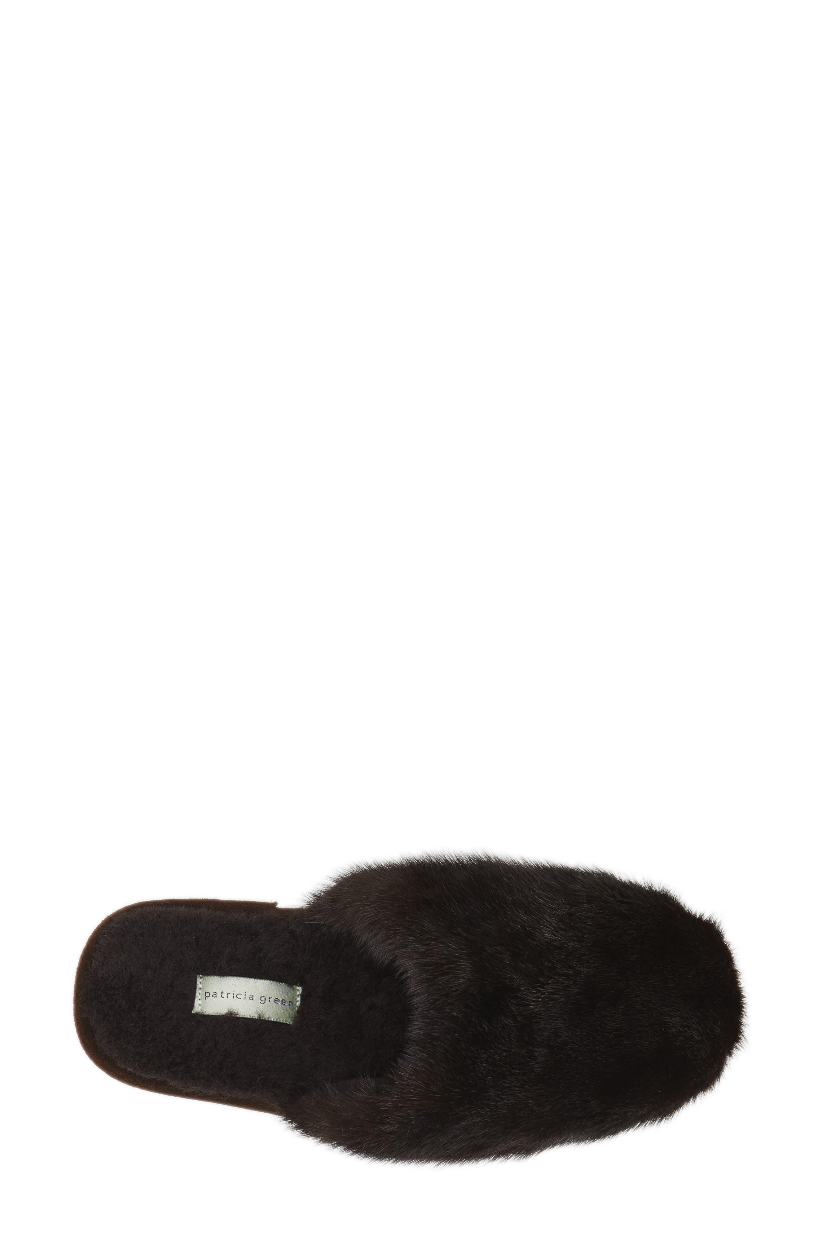 'Whistler' Genuine Mink Fur Slipper,                             Alternate thumbnail 6, color,                             215