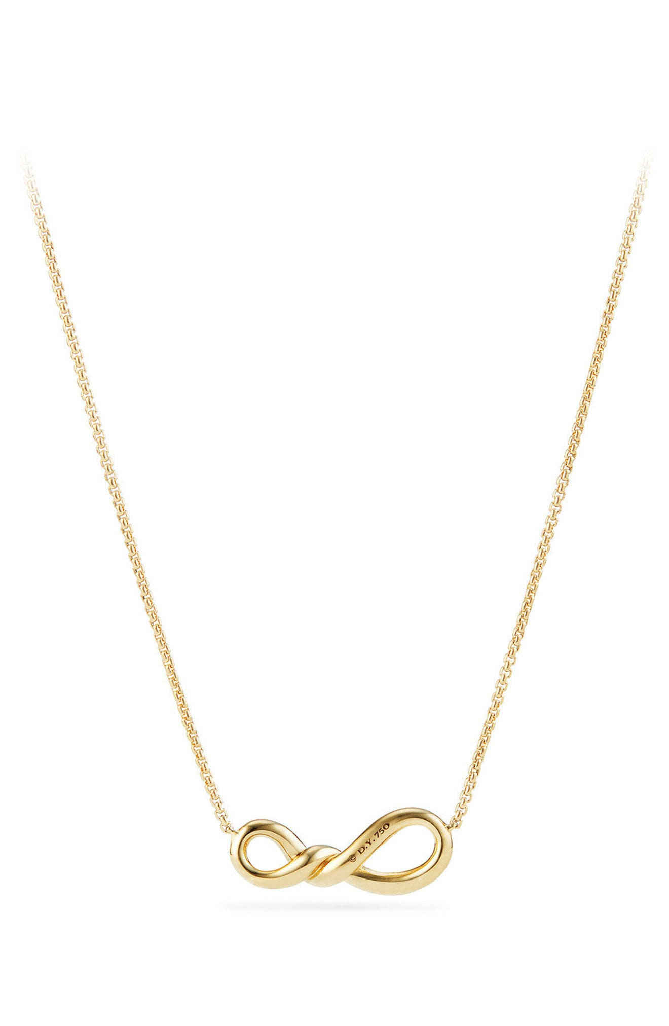 Continuance Pendant Necklace in 18K Gold with Diamonds,                             Alternate thumbnail 3, color,                             YELLOW GOLD