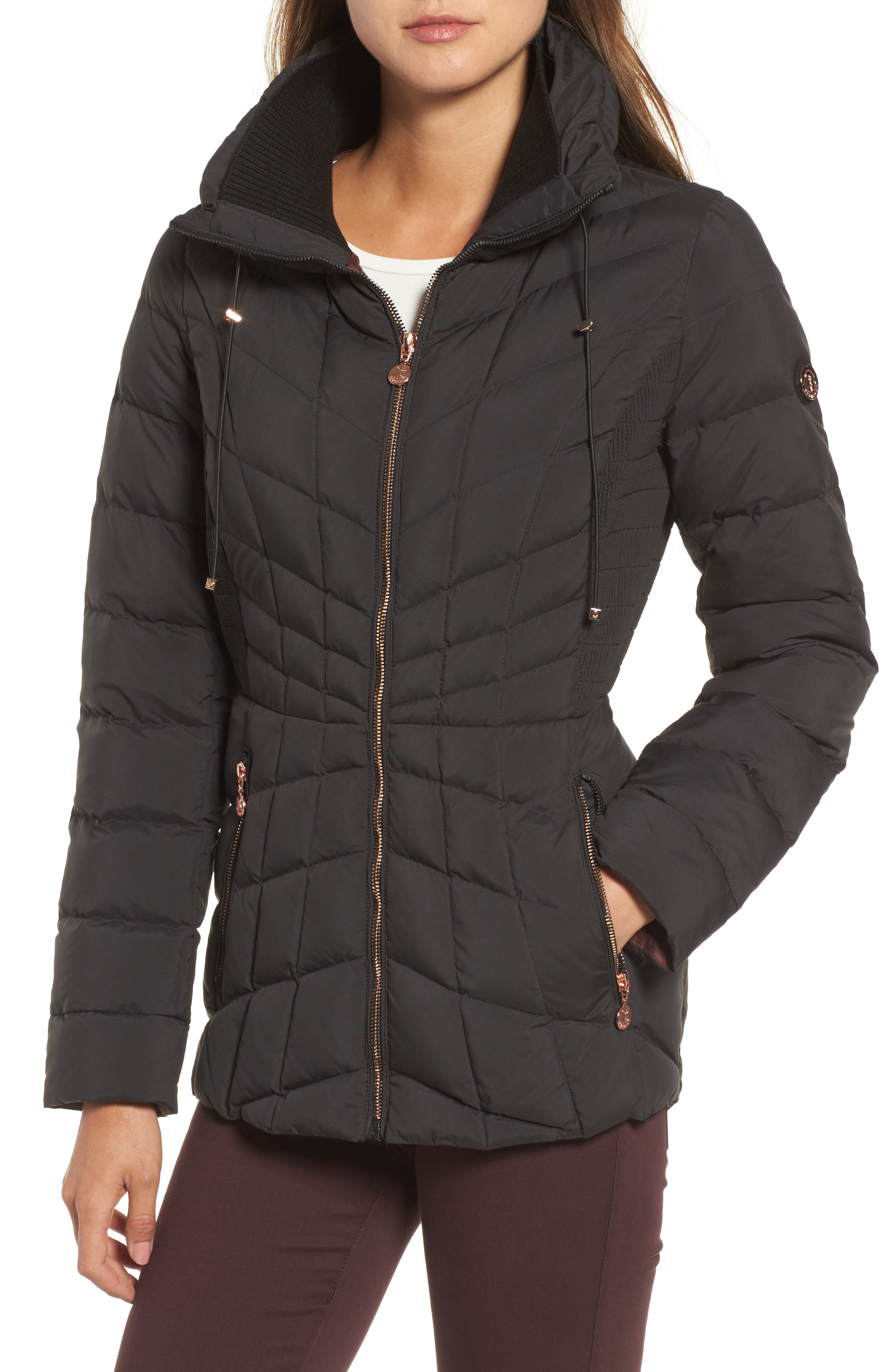 Packable Down & PrimaLoft<sup>®</sup> Coat,                             Alternate thumbnail 4, color,                             010