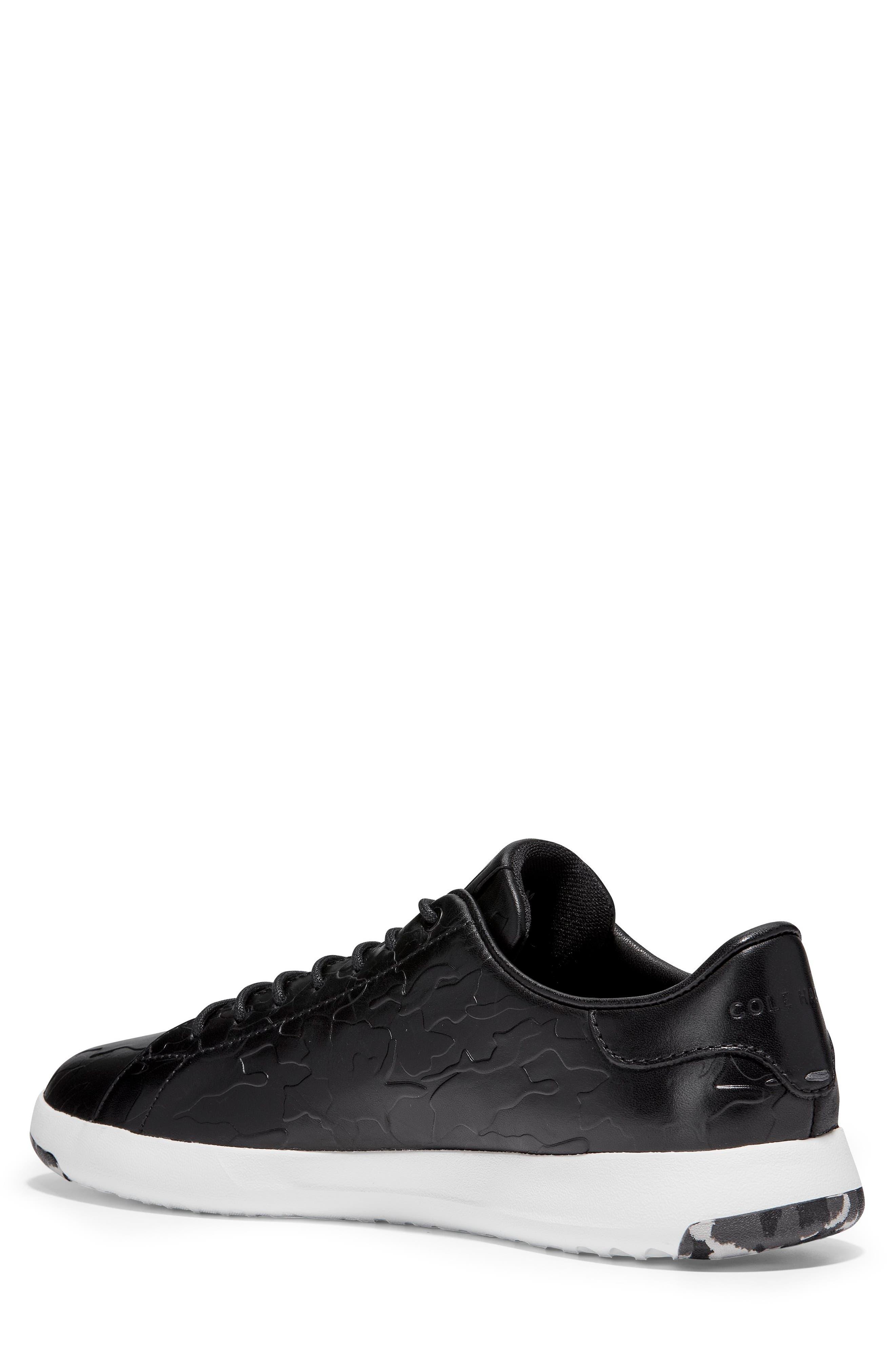 GrandPro Tennis Sneaker,                             Alternate thumbnail 2, color,                             BLACK/ CAMO LEATHER