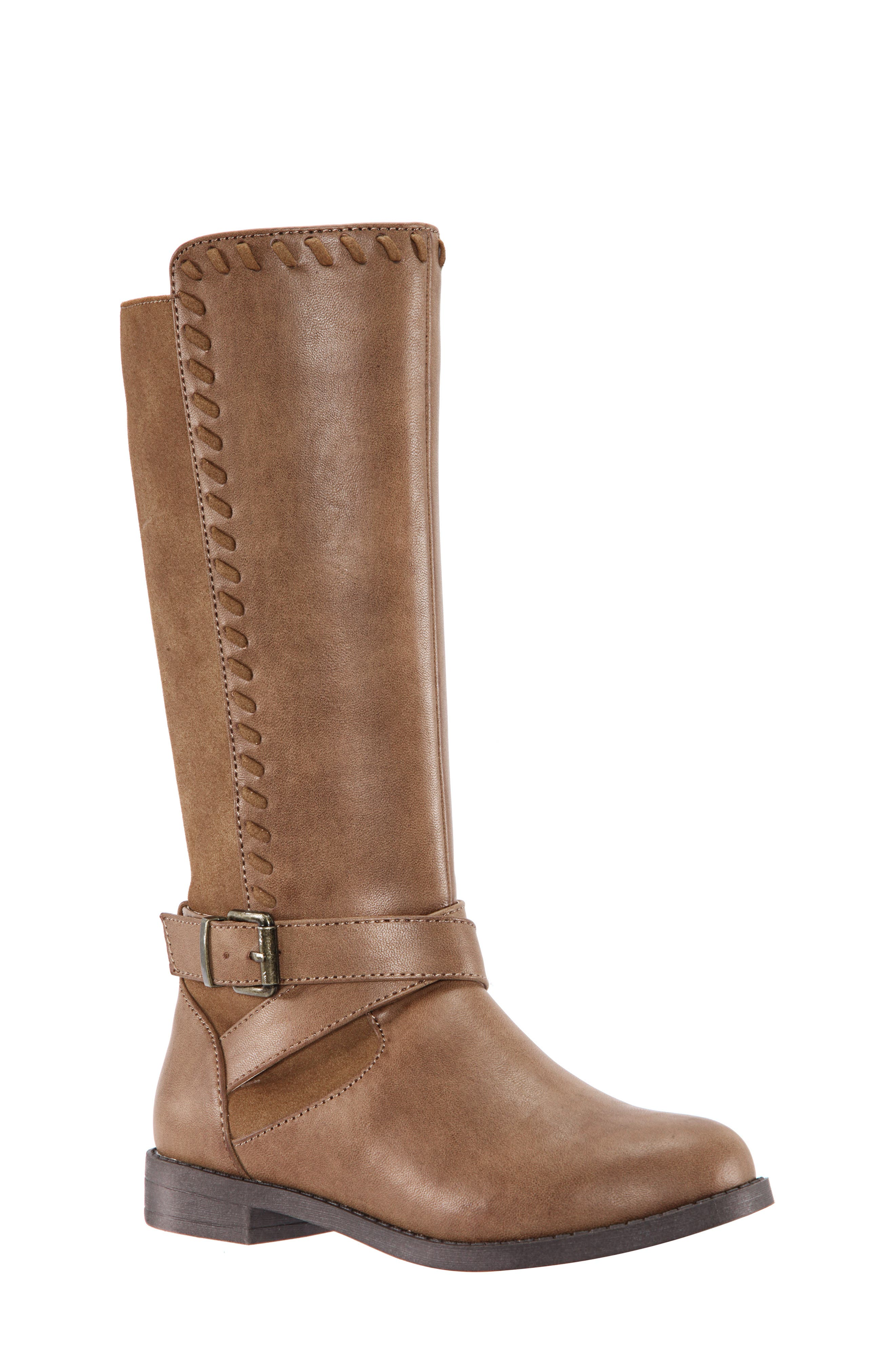 Jeanie Riding Boot,                             Main thumbnail 1, color,                             SADDLE BURNISHED
