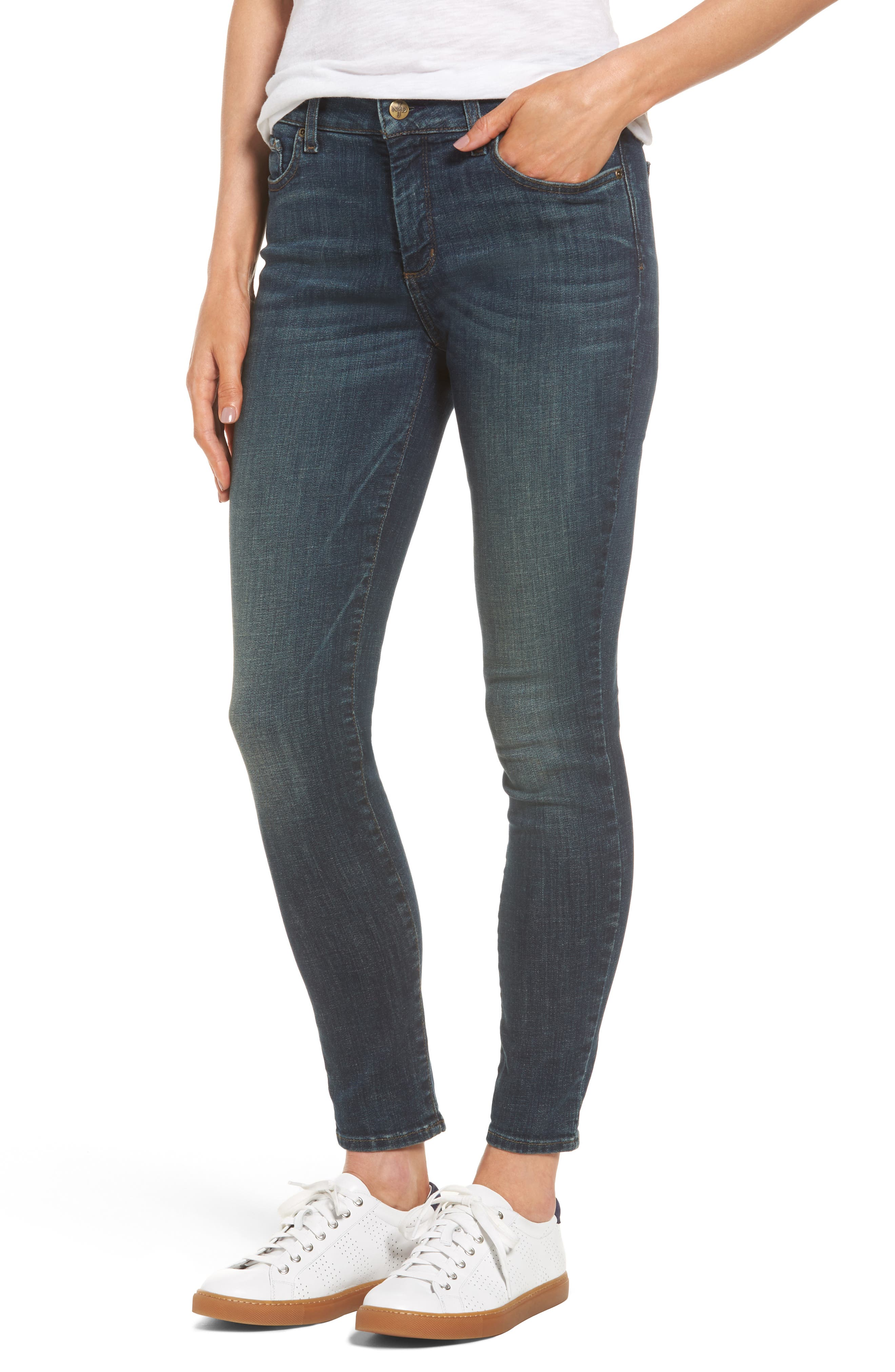 Ami Stretch Skinny Jeans,                             Main thumbnail 1, color,                             420