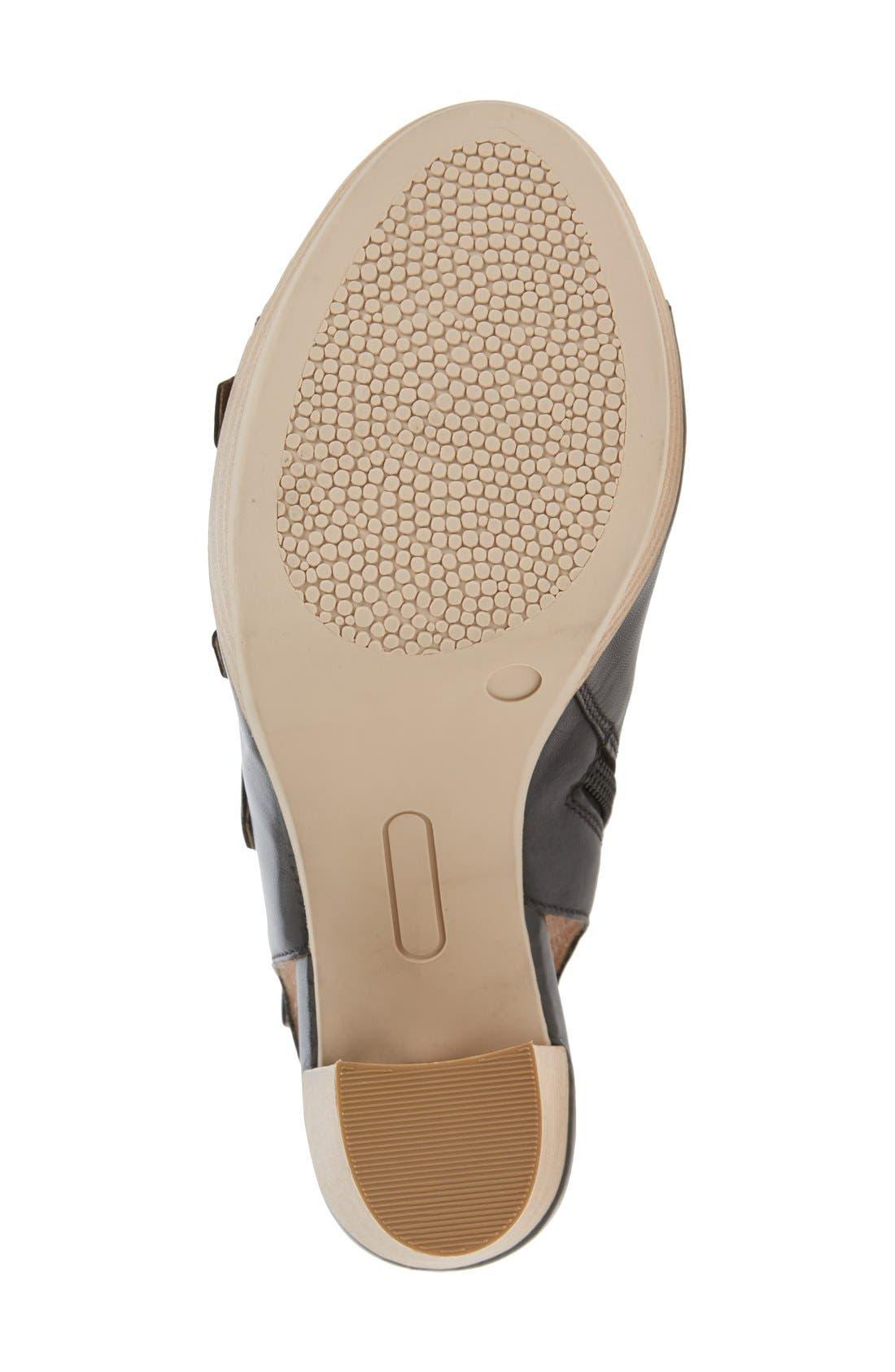'Kennedy' Buckle Strap Block Heel Sandal,                             Alternate thumbnail 4, color,                             001