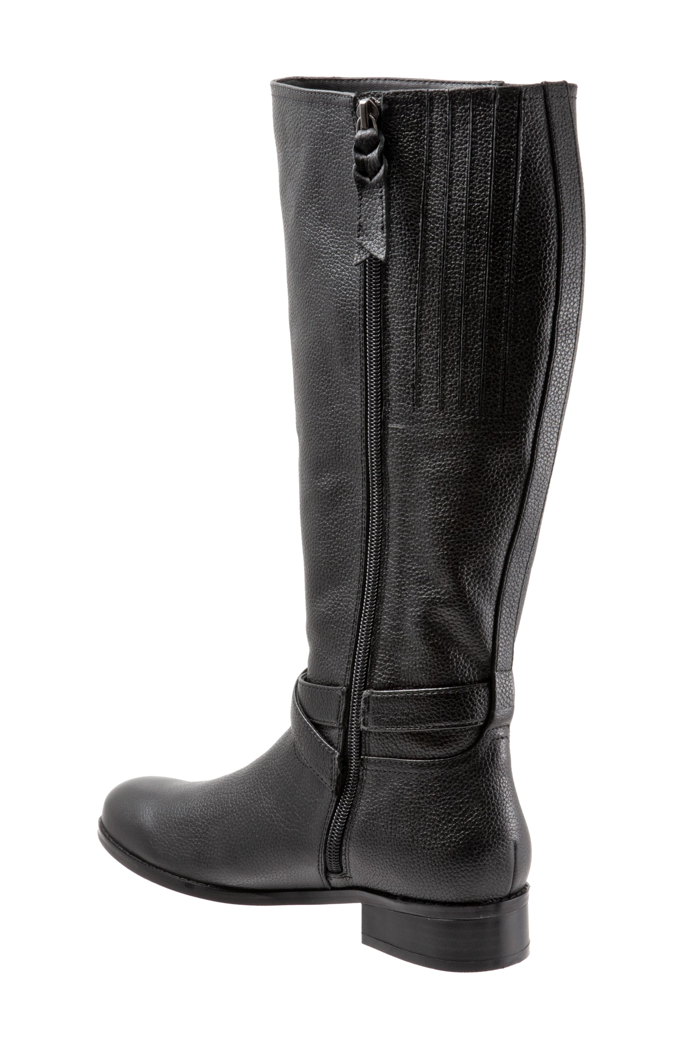 Liberty Tall Boot,                             Alternate thumbnail 2, color,                             BLACK LEATHER