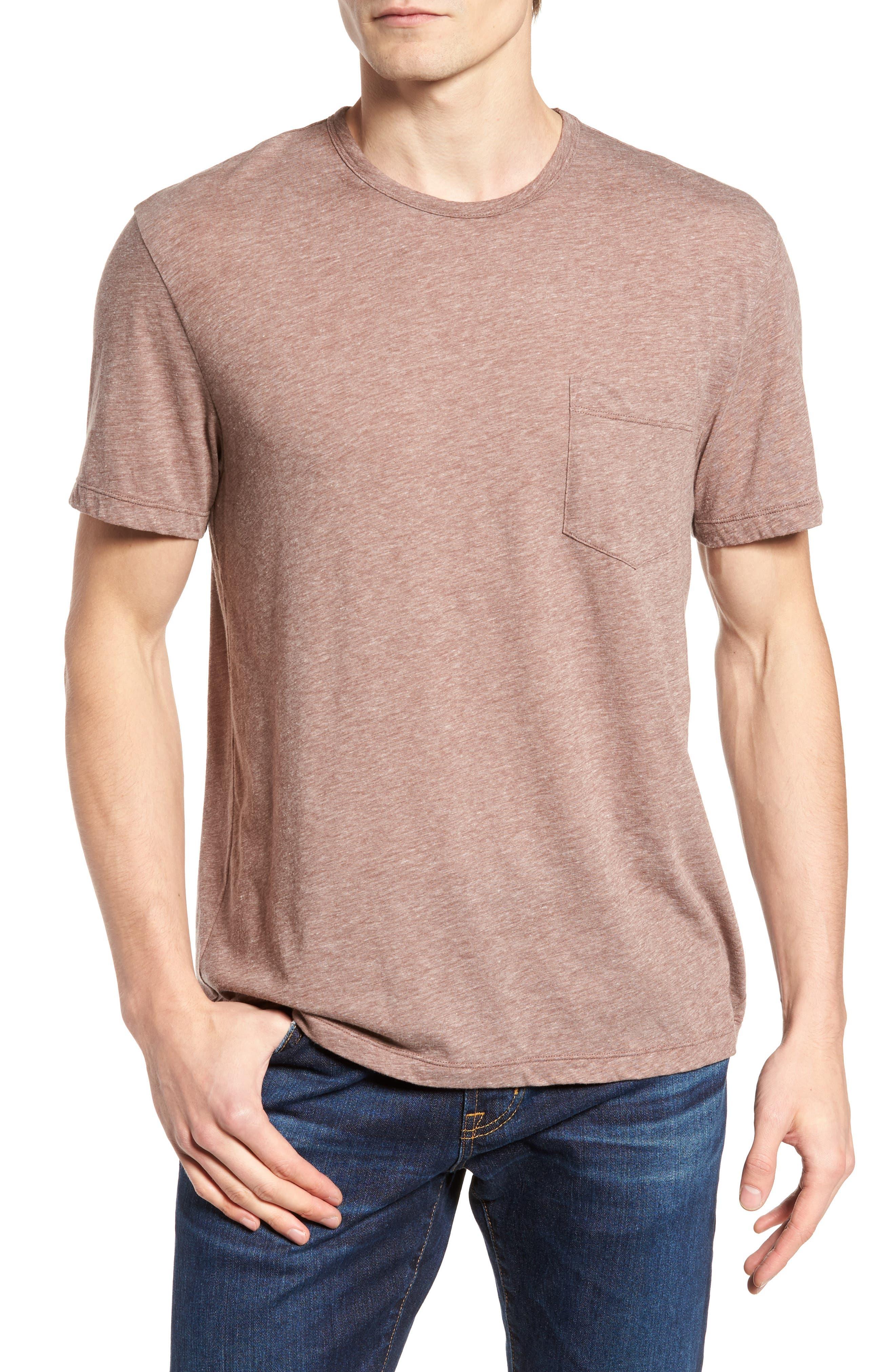 Slubbed Cotton & Linen Pocket T-Shirt,                             Main thumbnail 3, color,