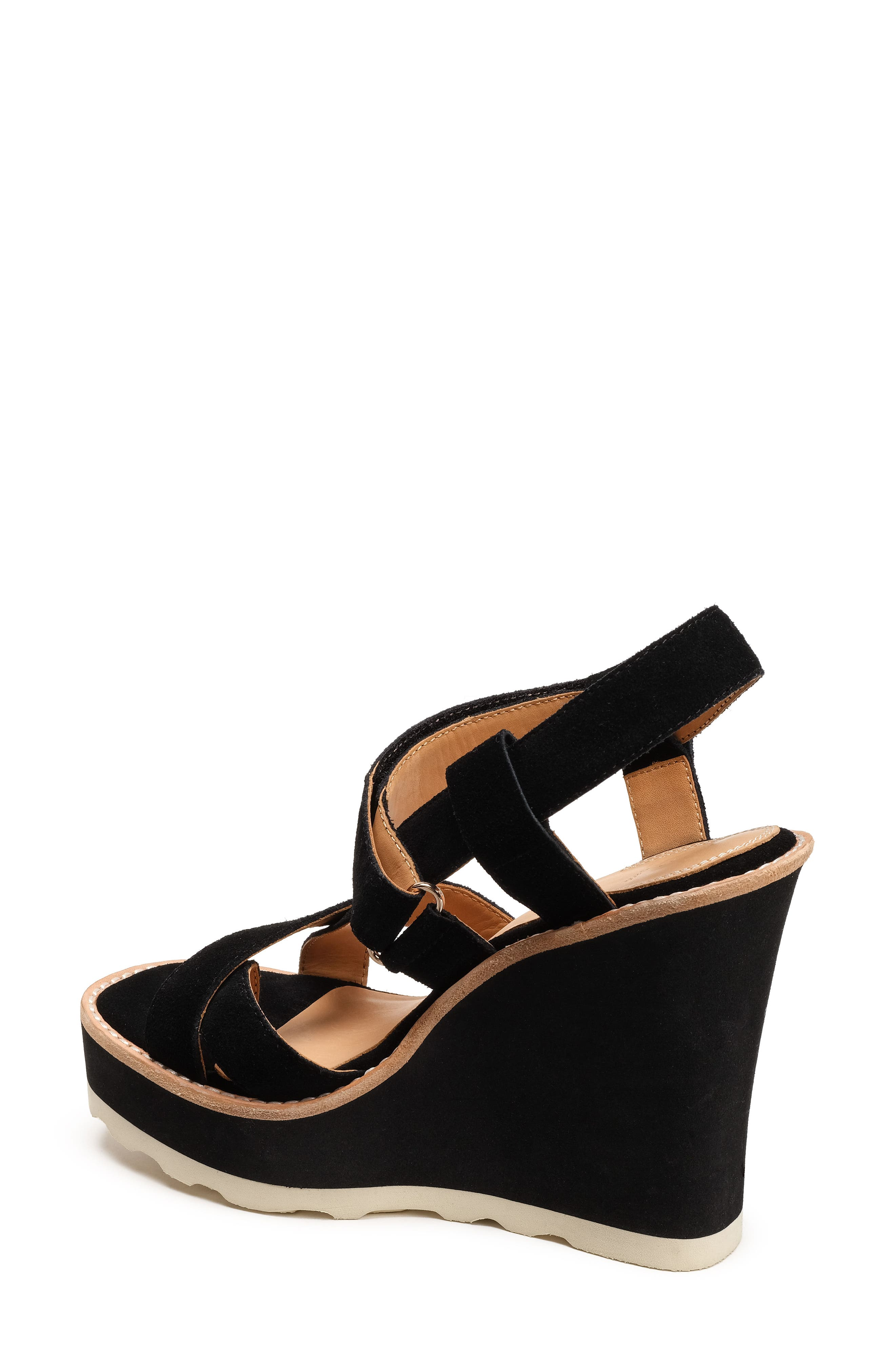 Rae Strappy Wedge Sandal,                             Alternate thumbnail 2, color,                             001