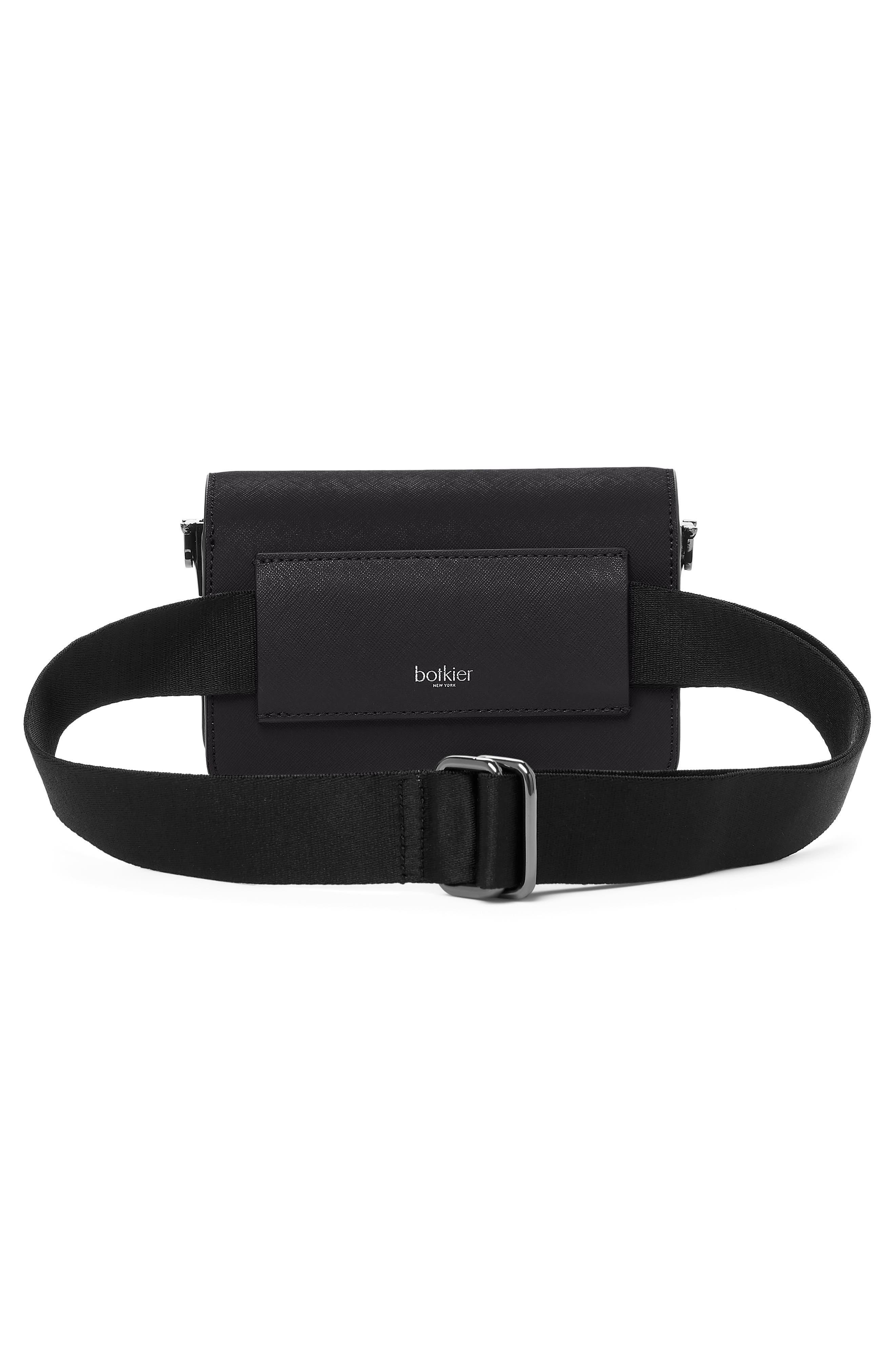Cobble Hill Leather Convertible Belt Bag,                             Alternate thumbnail 2, color,                             BLACK