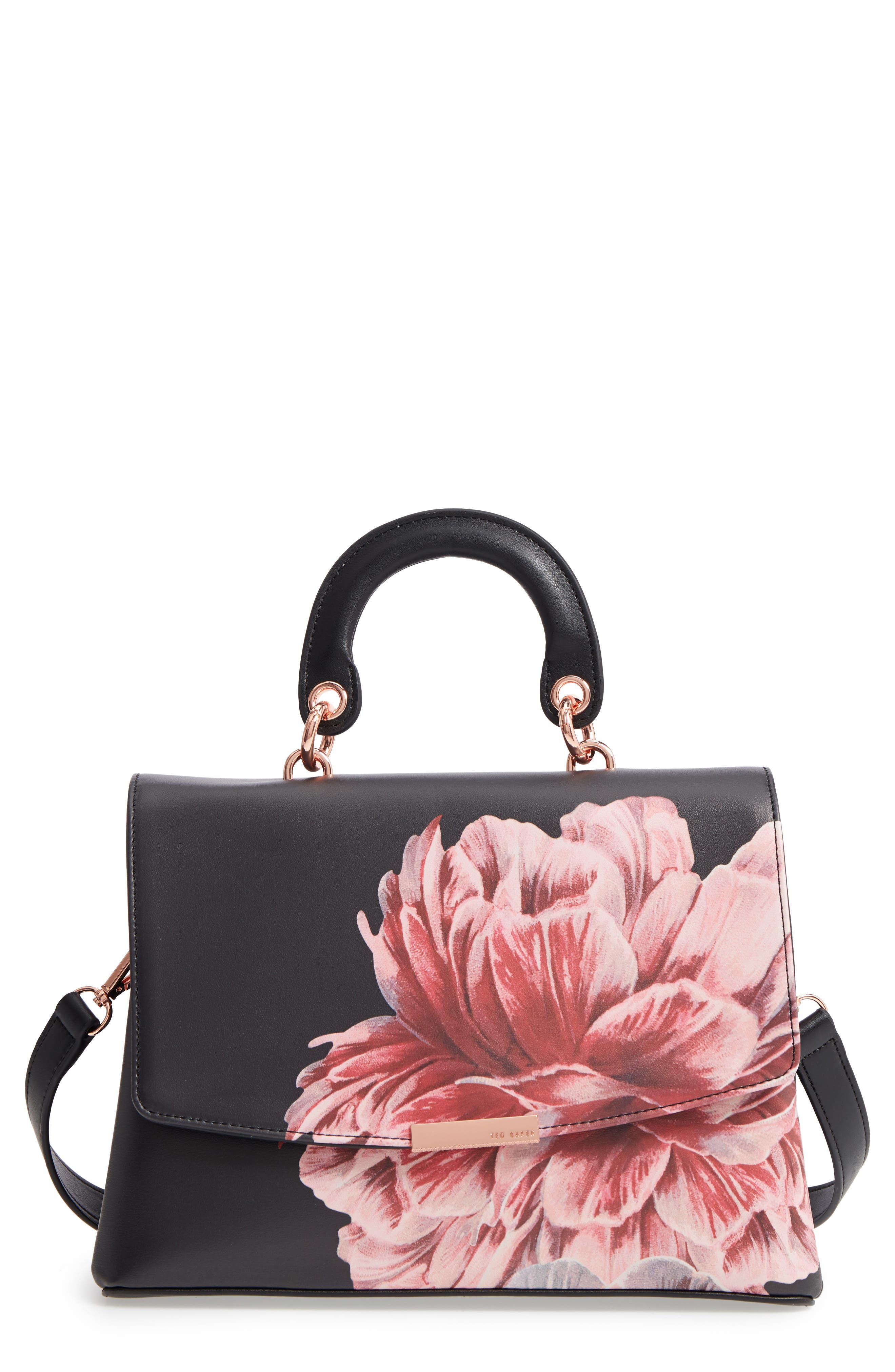 TED BAKER LONDON Tranquility Lady Bag Top Handle Satchel, Main, color, 001