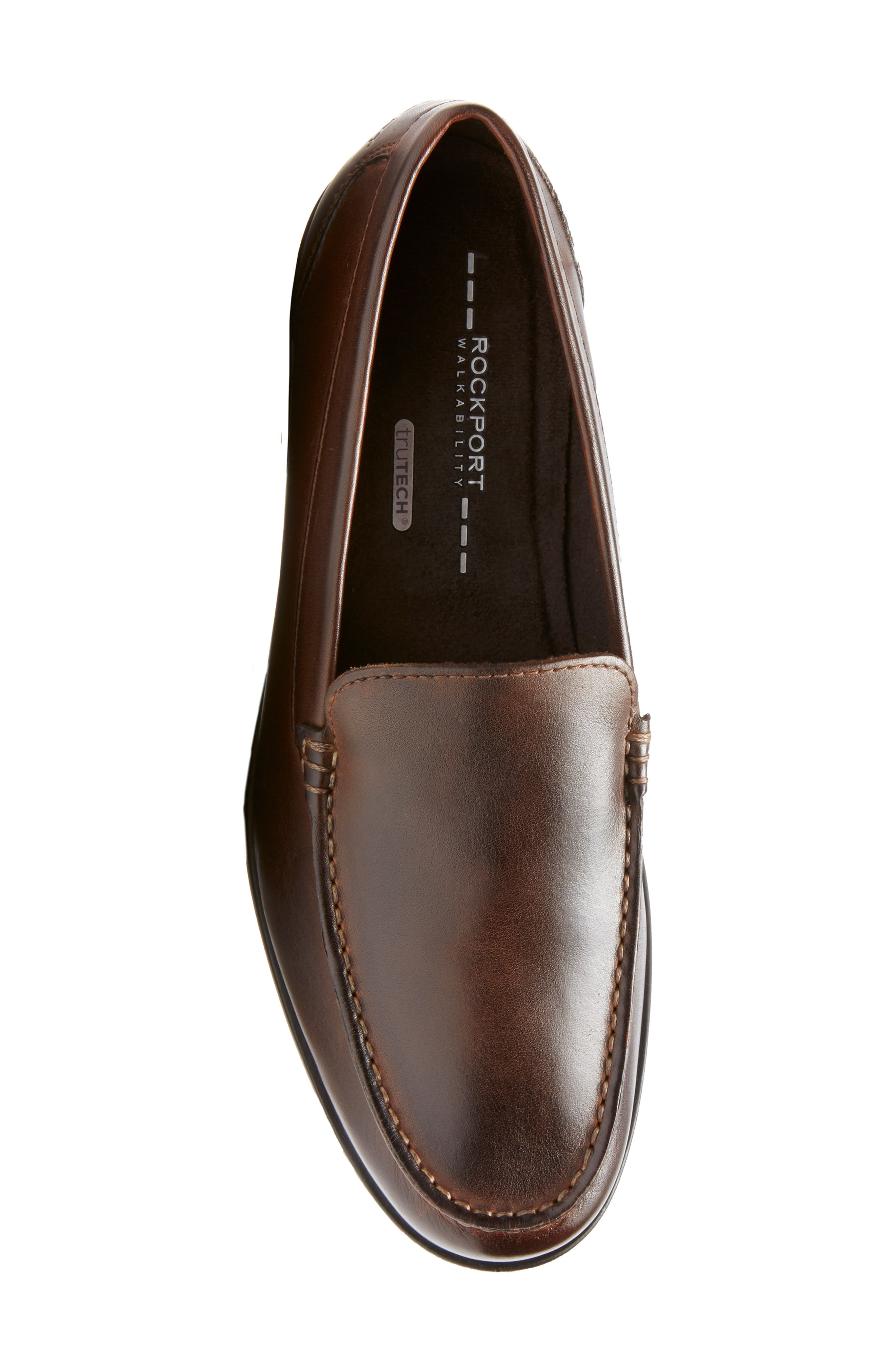 Classic Venetian Loafer,                             Alternate thumbnail 5, color,                             DARK BROWN LEATHER