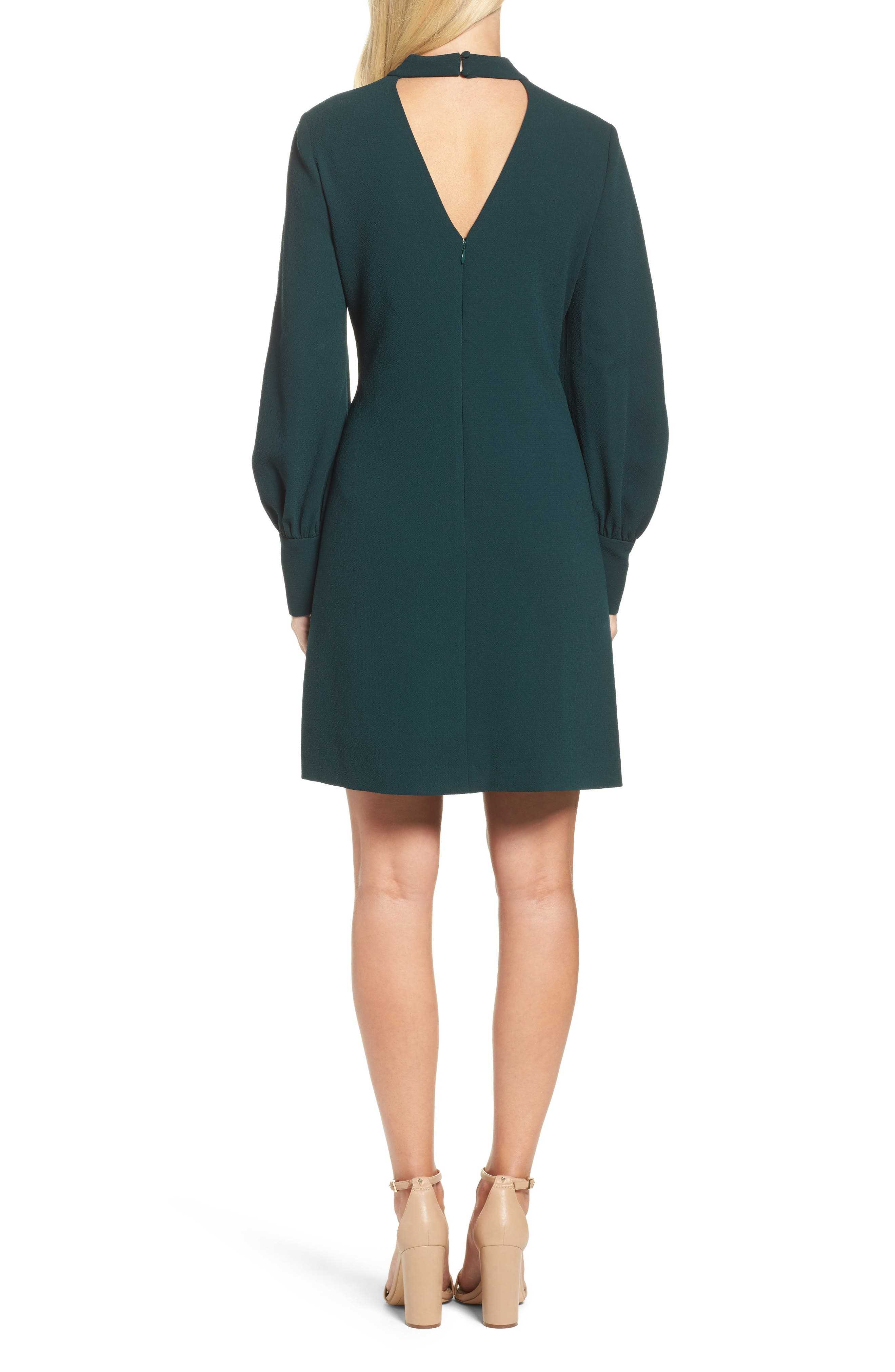 Bishop Sleeve Shift Dress,                             Alternate thumbnail 2, color,                             302
