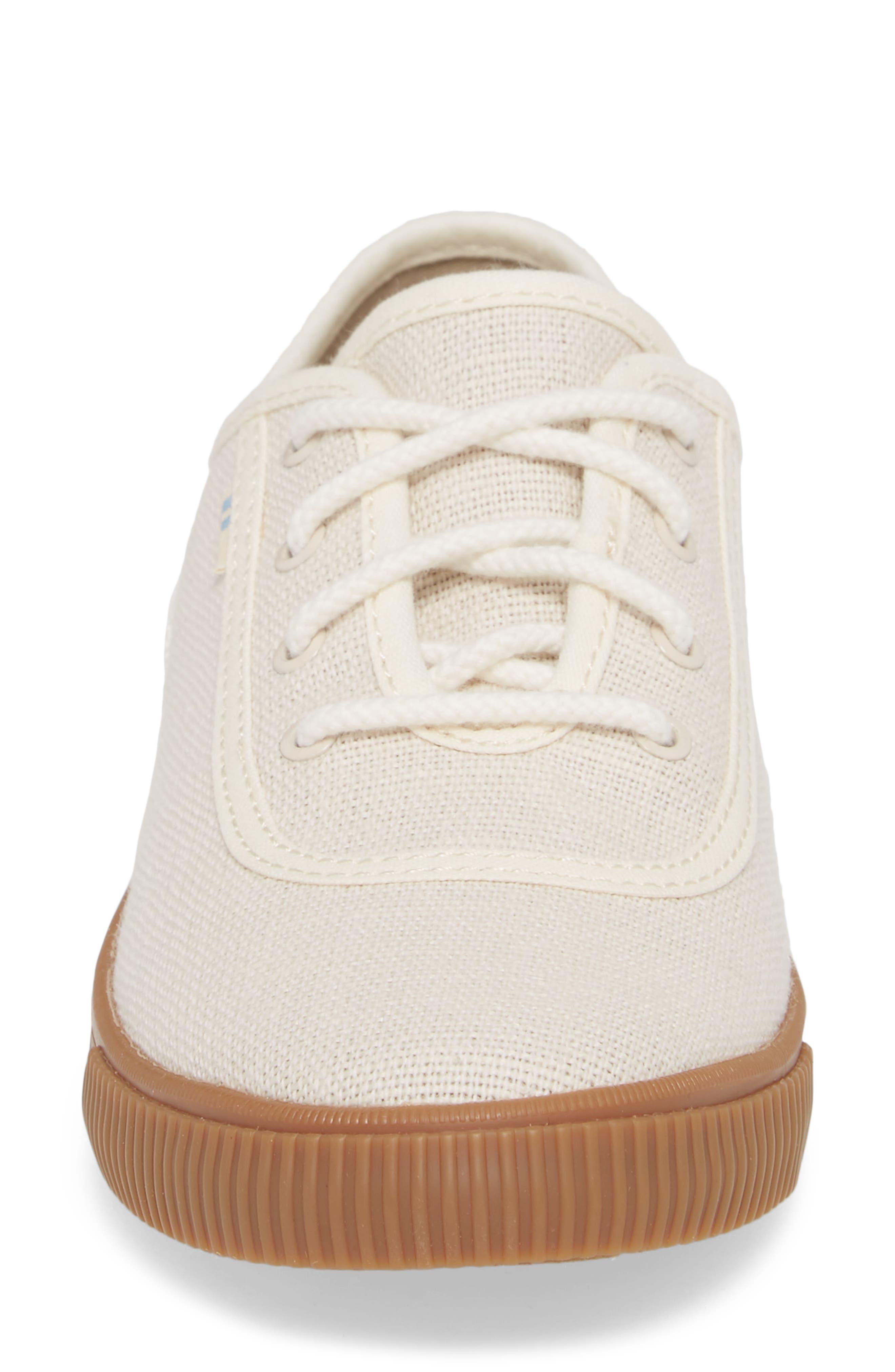 Carmel Sneaker,                             Alternate thumbnail 4, color,                             BIRCH HERITAGE CANVAS