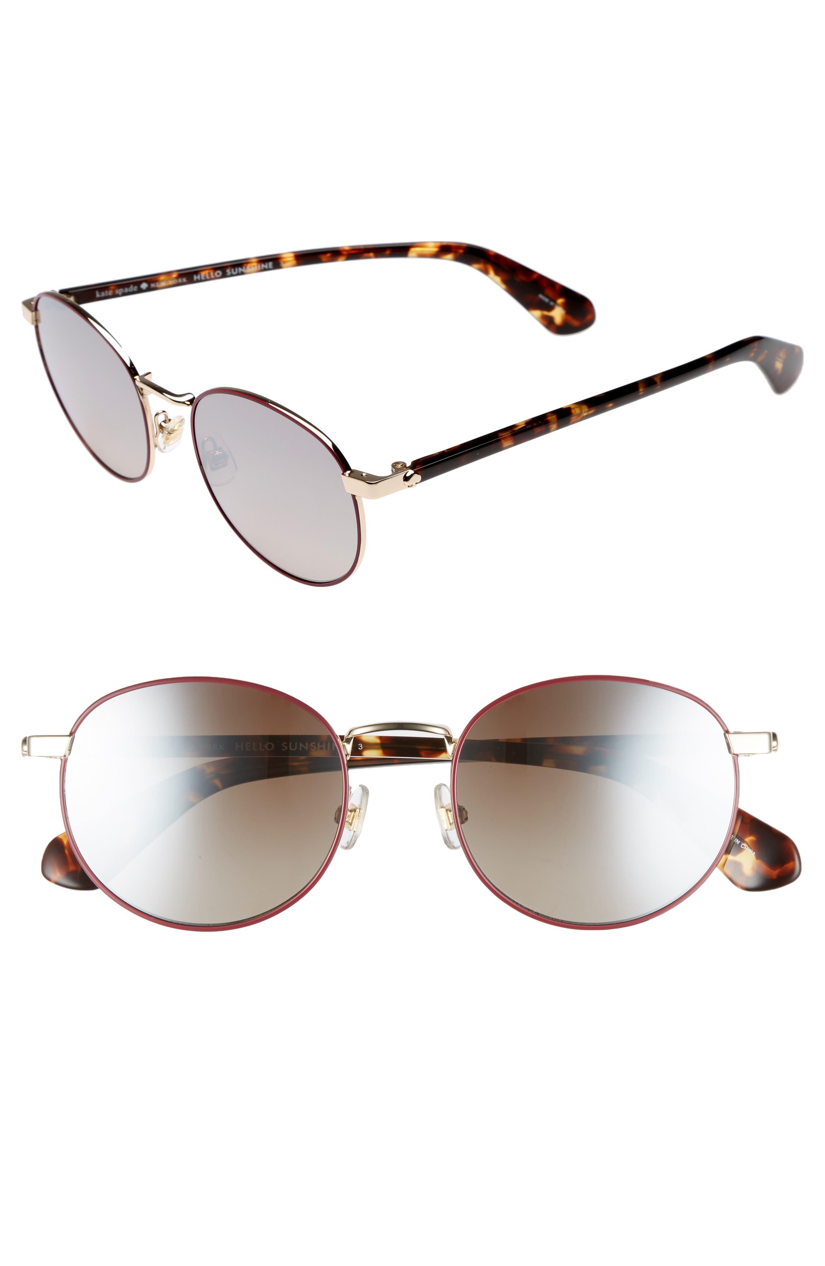 adelais 50mm round sunglasses,                             Main thumbnail 3, color,