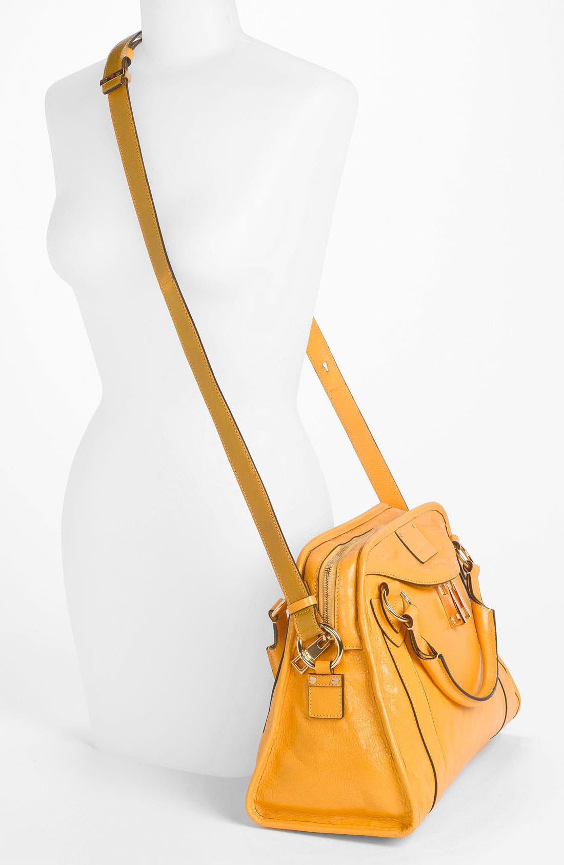 'Classic Wellington' Leather Satchel,                             Alternate thumbnail 41, color,