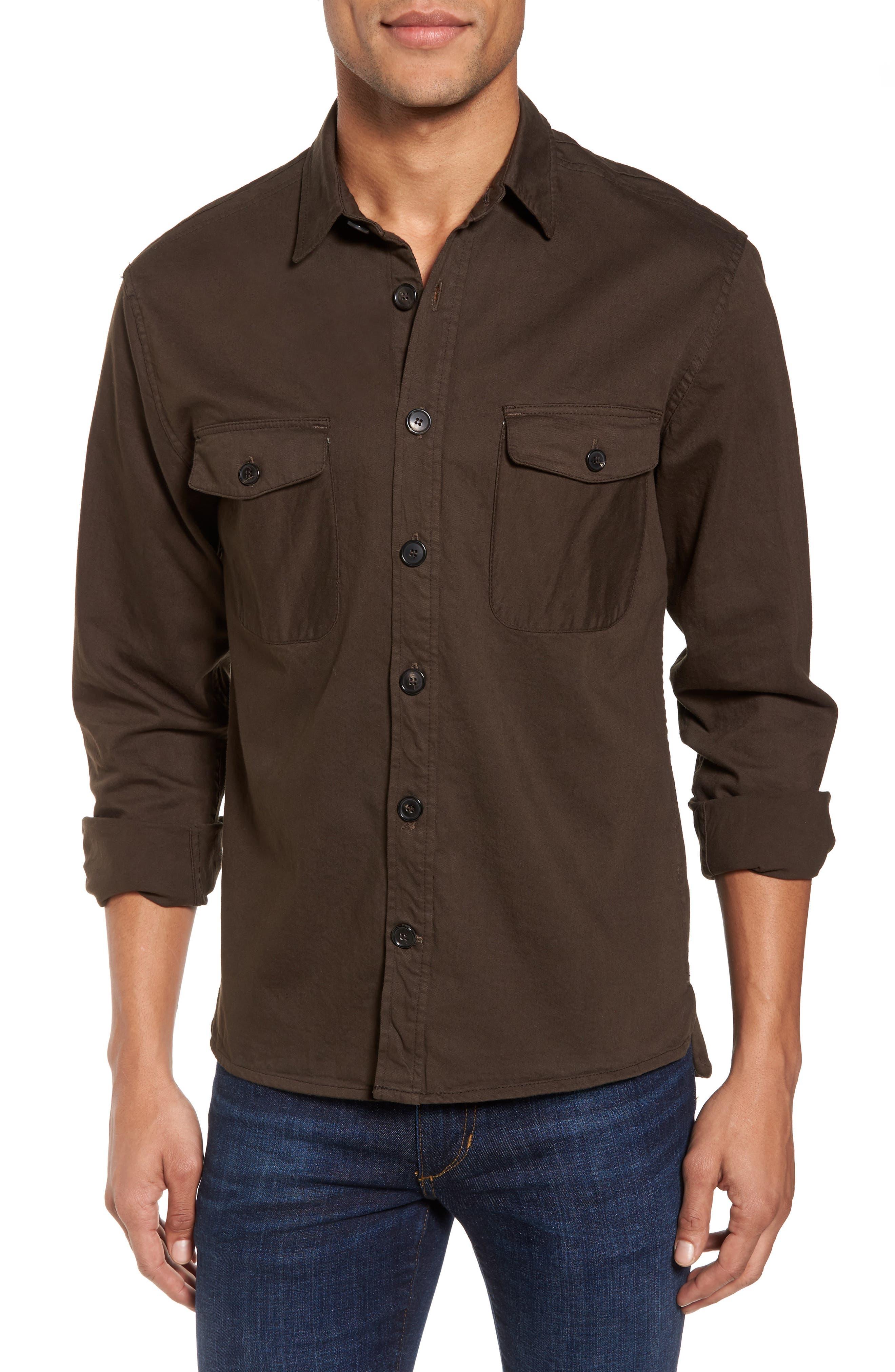 Selvedge Denim Sport Shirt,                         Main,                         color, 305
