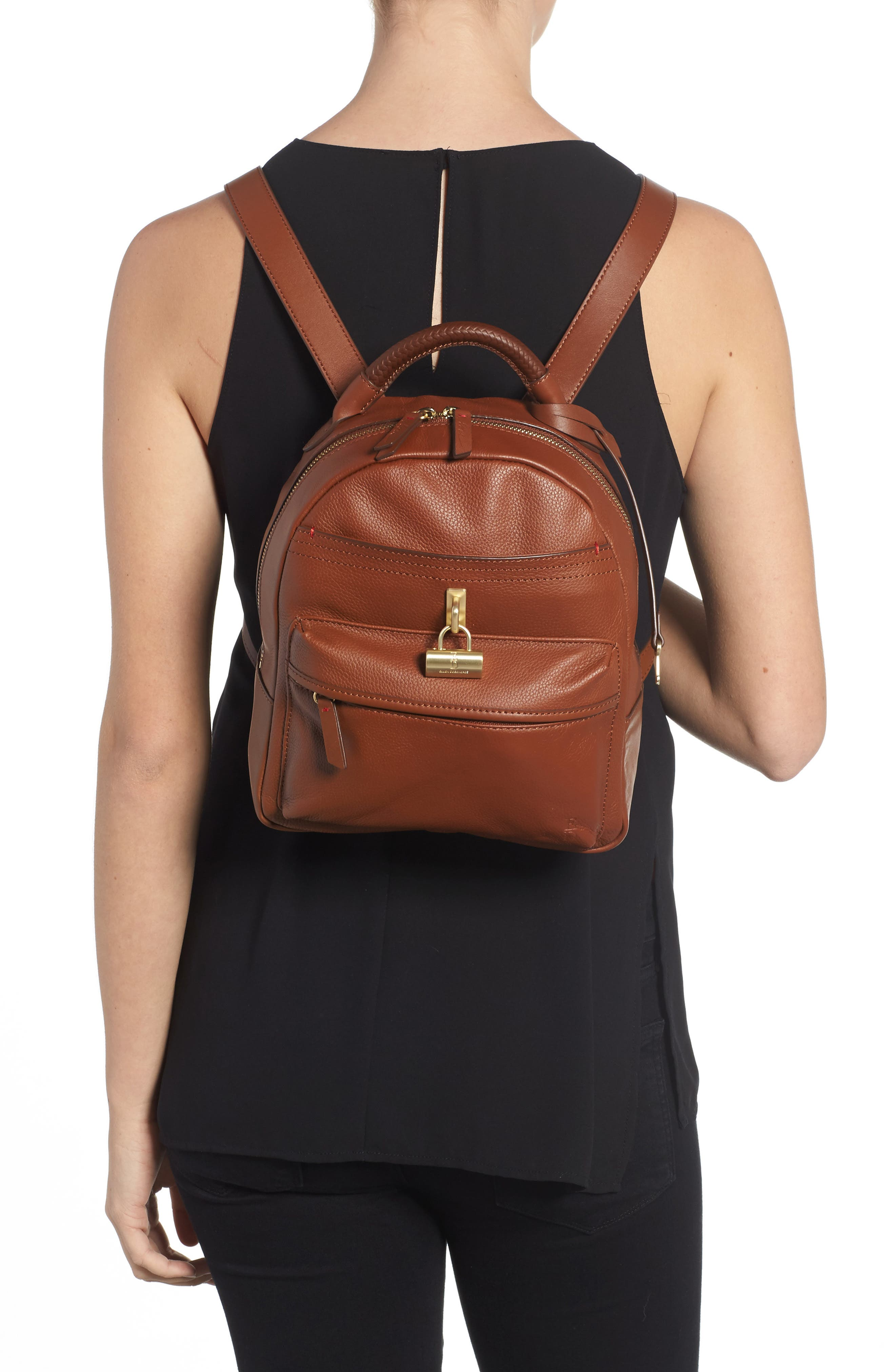 Brody Leather Backpack,                             Alternate thumbnail 2, color,                             242
