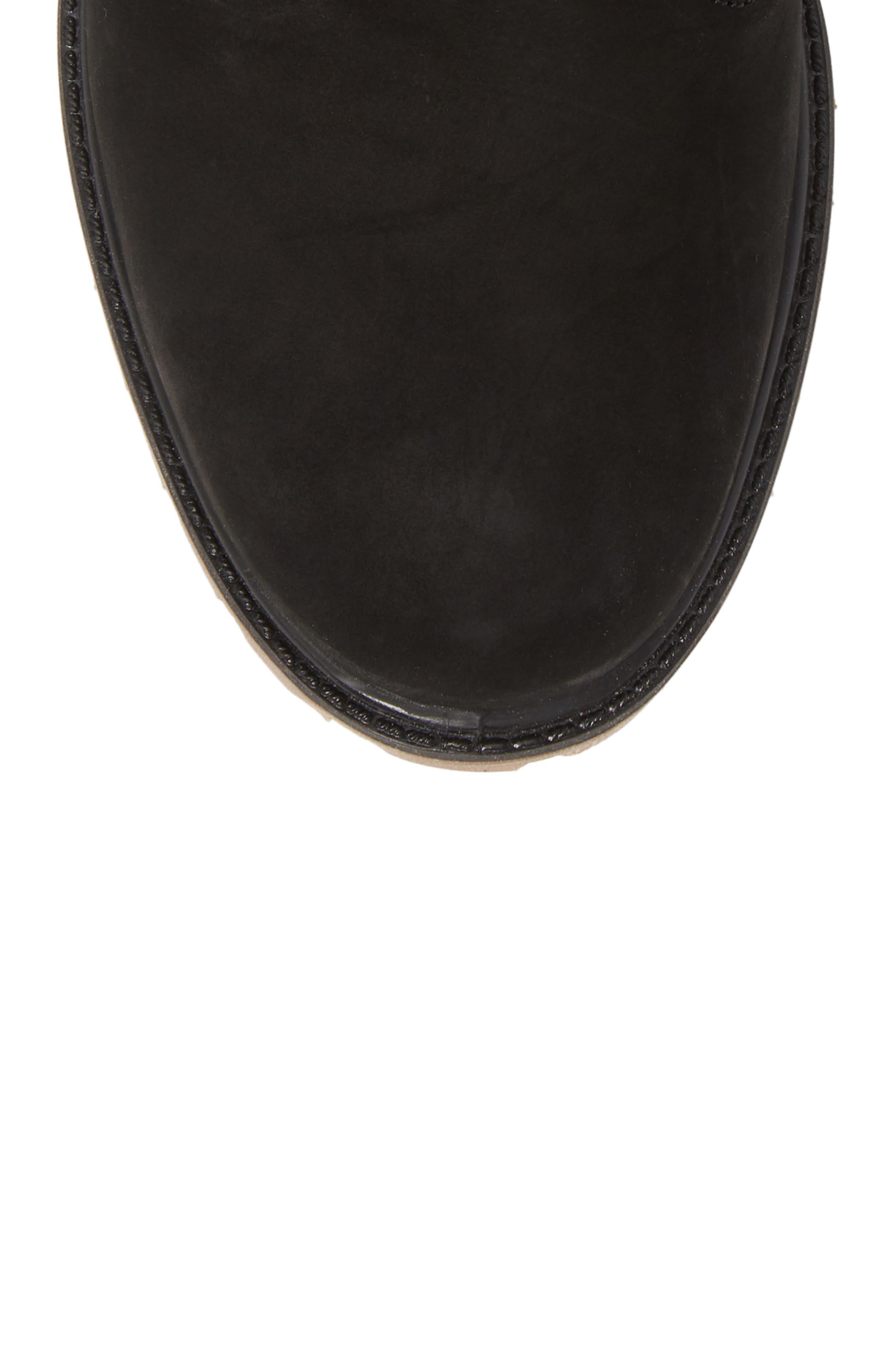 Gaiter Boot,                             Alternate thumbnail 5, color,                             BLACK NUBUCK