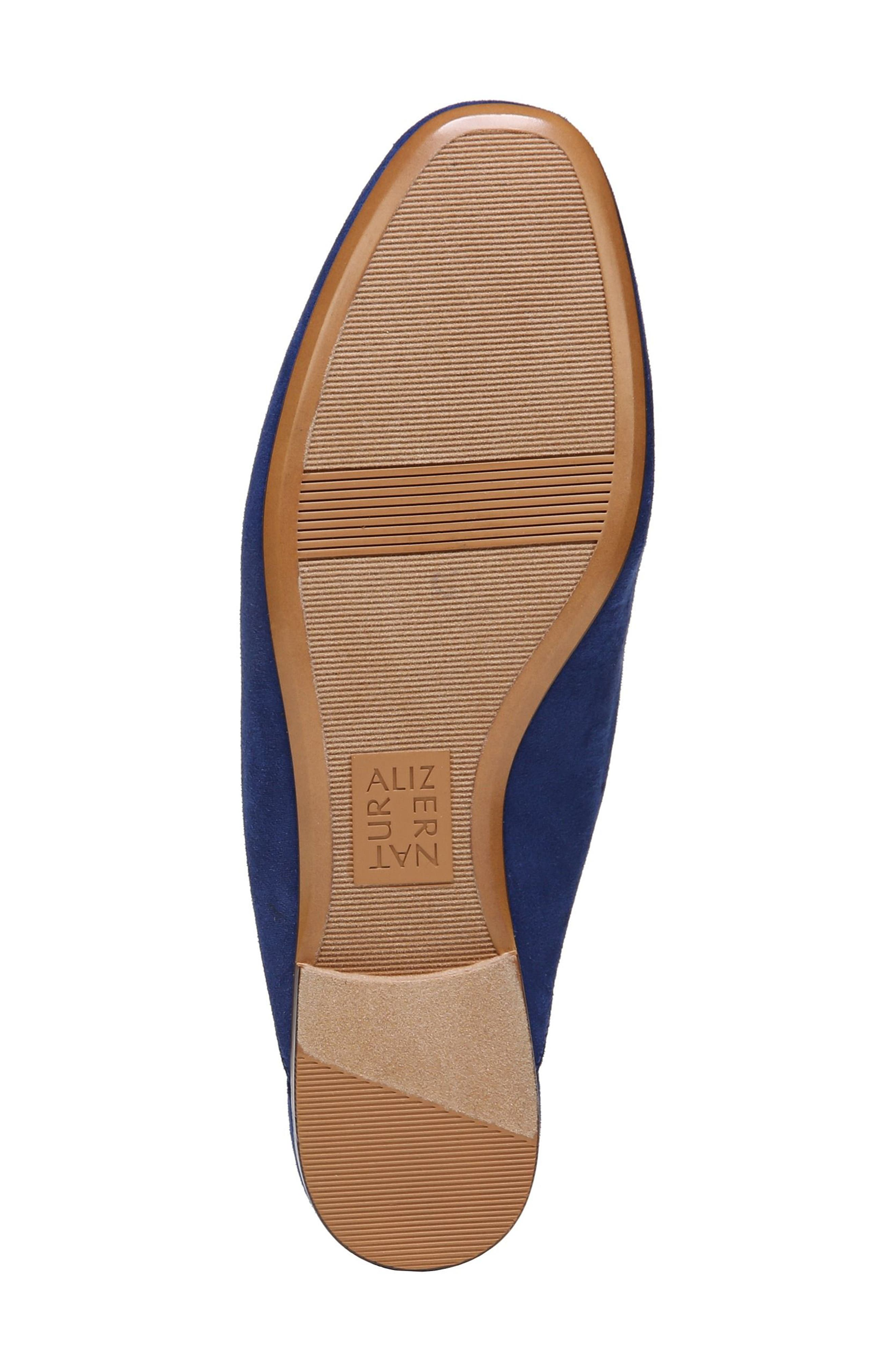 NATURALIZER,                             Eden II Embroidered Mule,                             Alternate thumbnail 6, color,                             SAPPHIRE FABRIC