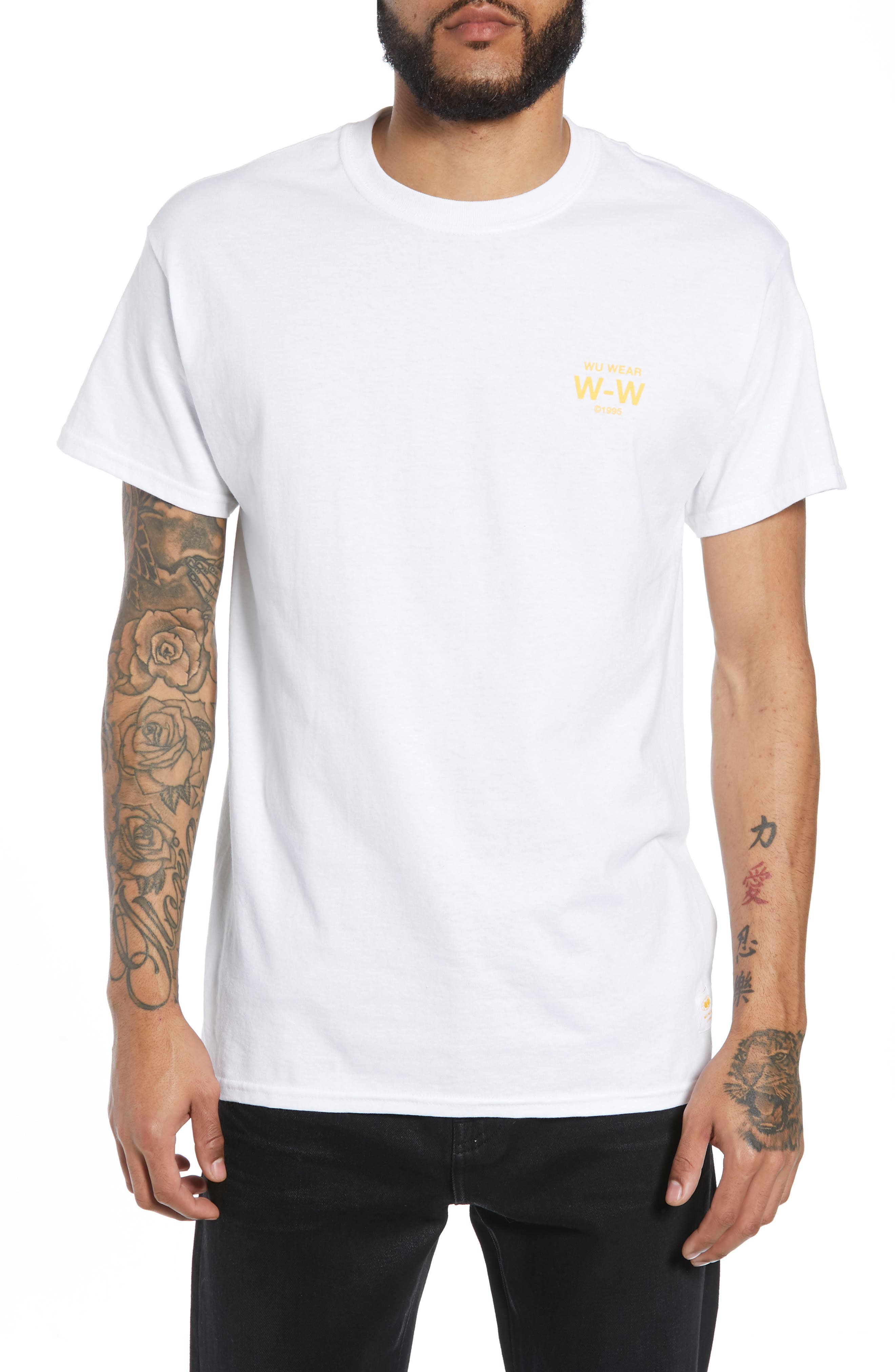 WU WEAR Straight From The Grains Glove Graphic T-Shirt in White