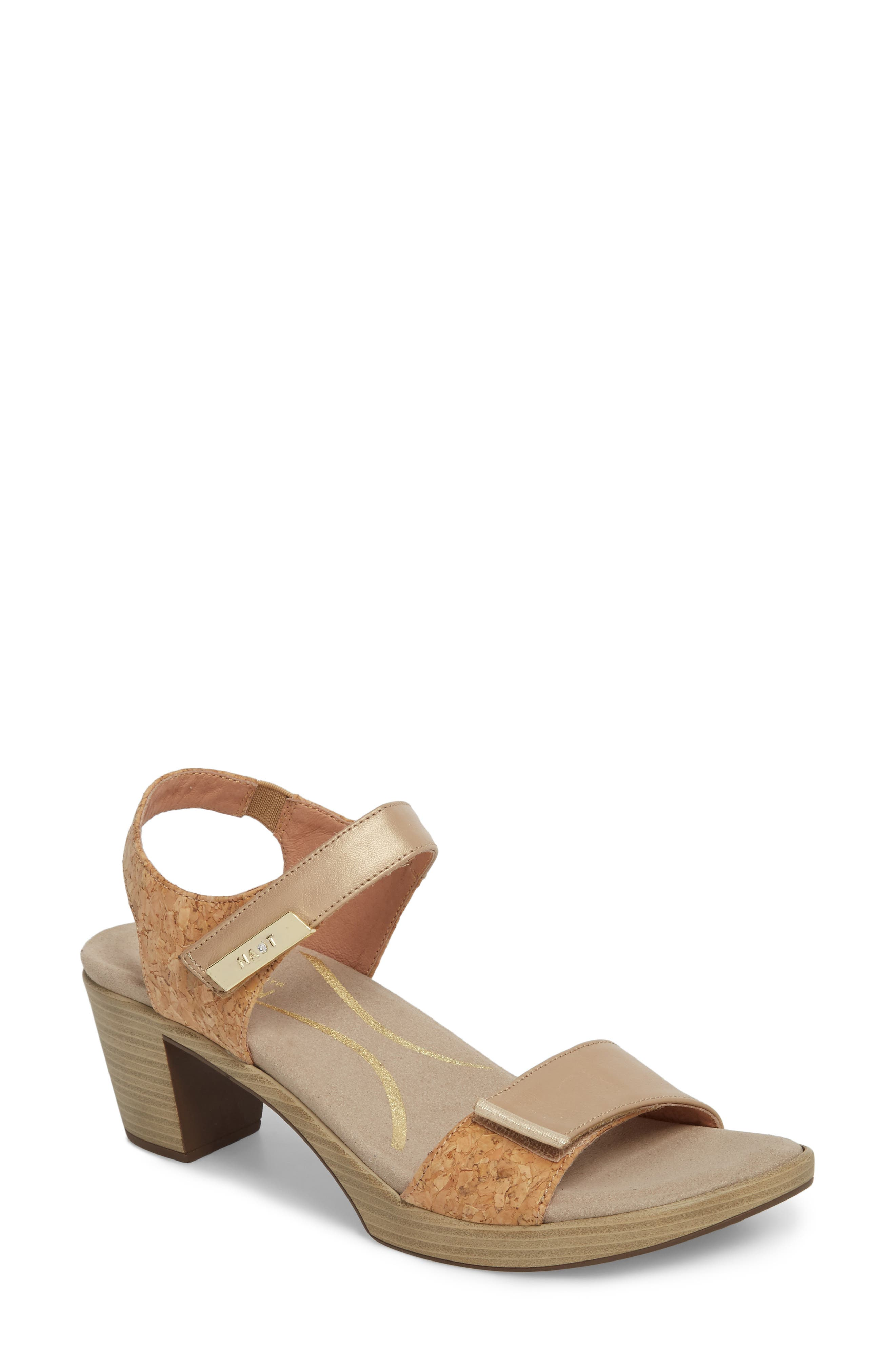 'Intact' Sandal,                             Main thumbnail 1, color,                             CHAMPAGNE LEATHER